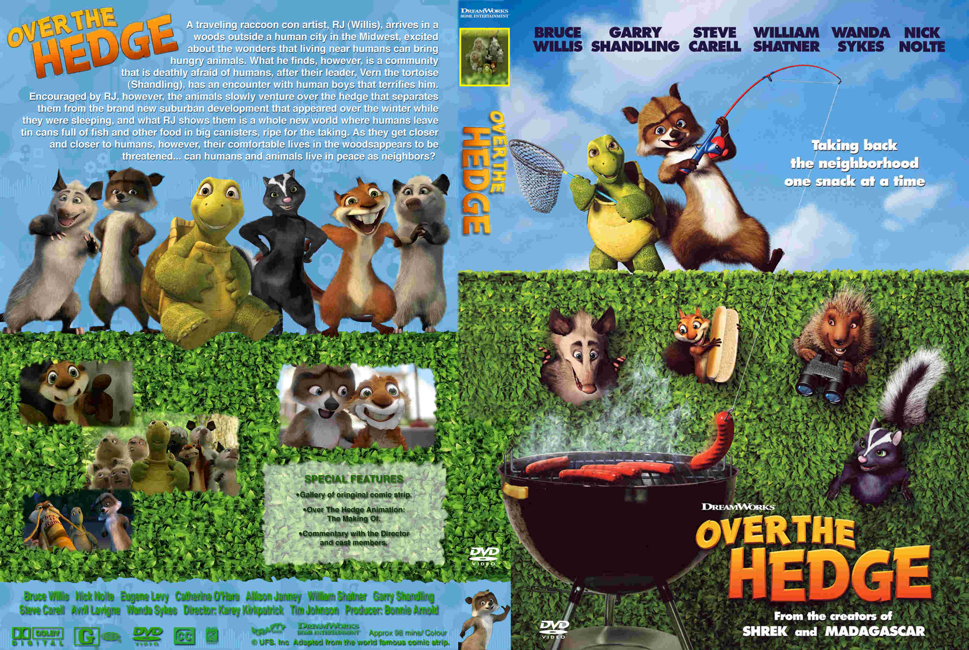 Covers Box Sk Over The Hedge 2006 High Quality Dvd Blueray Movie