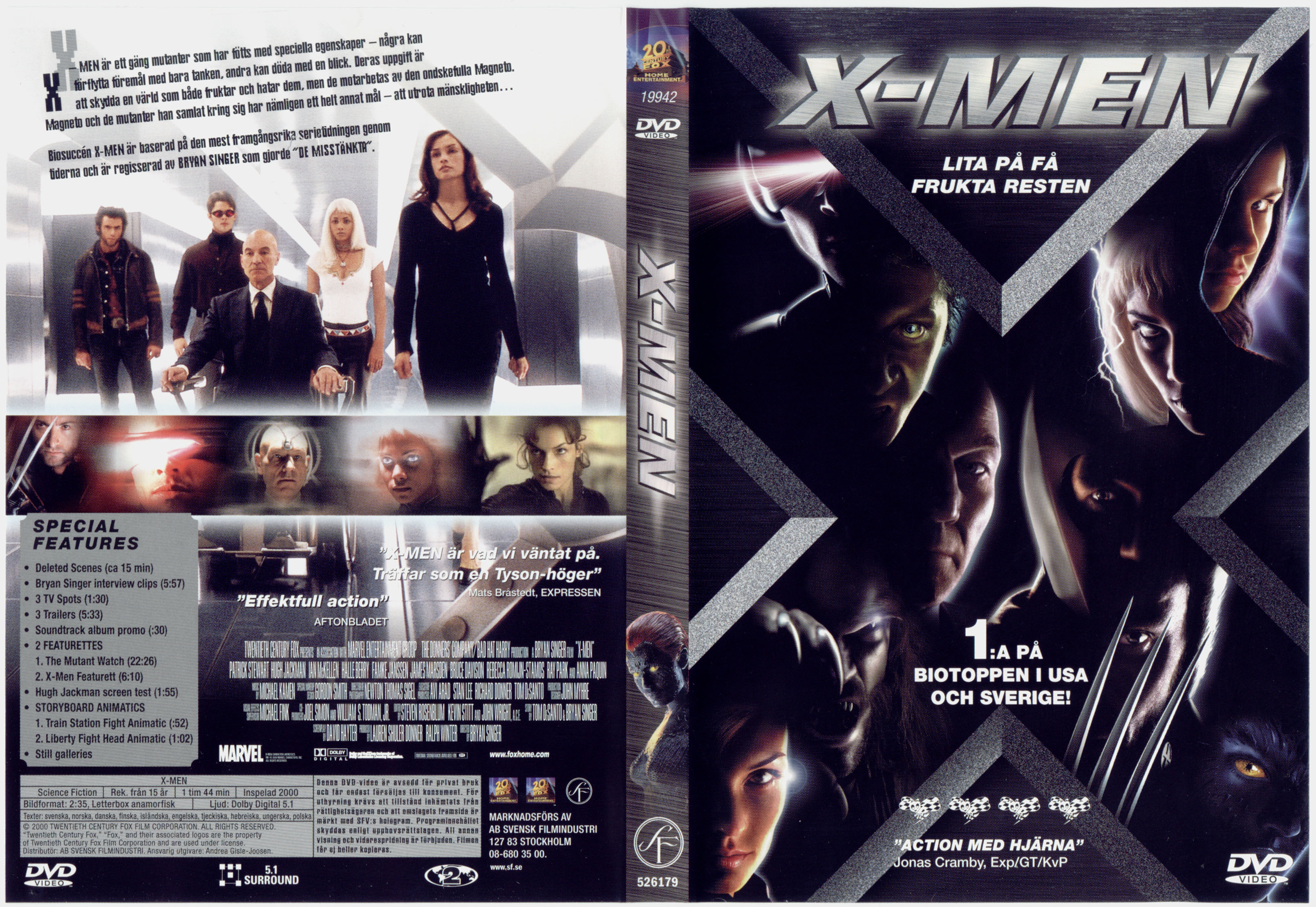 X Men Dvd Cover: COVERS.BOX.SK ::: X-men 1 (2000)