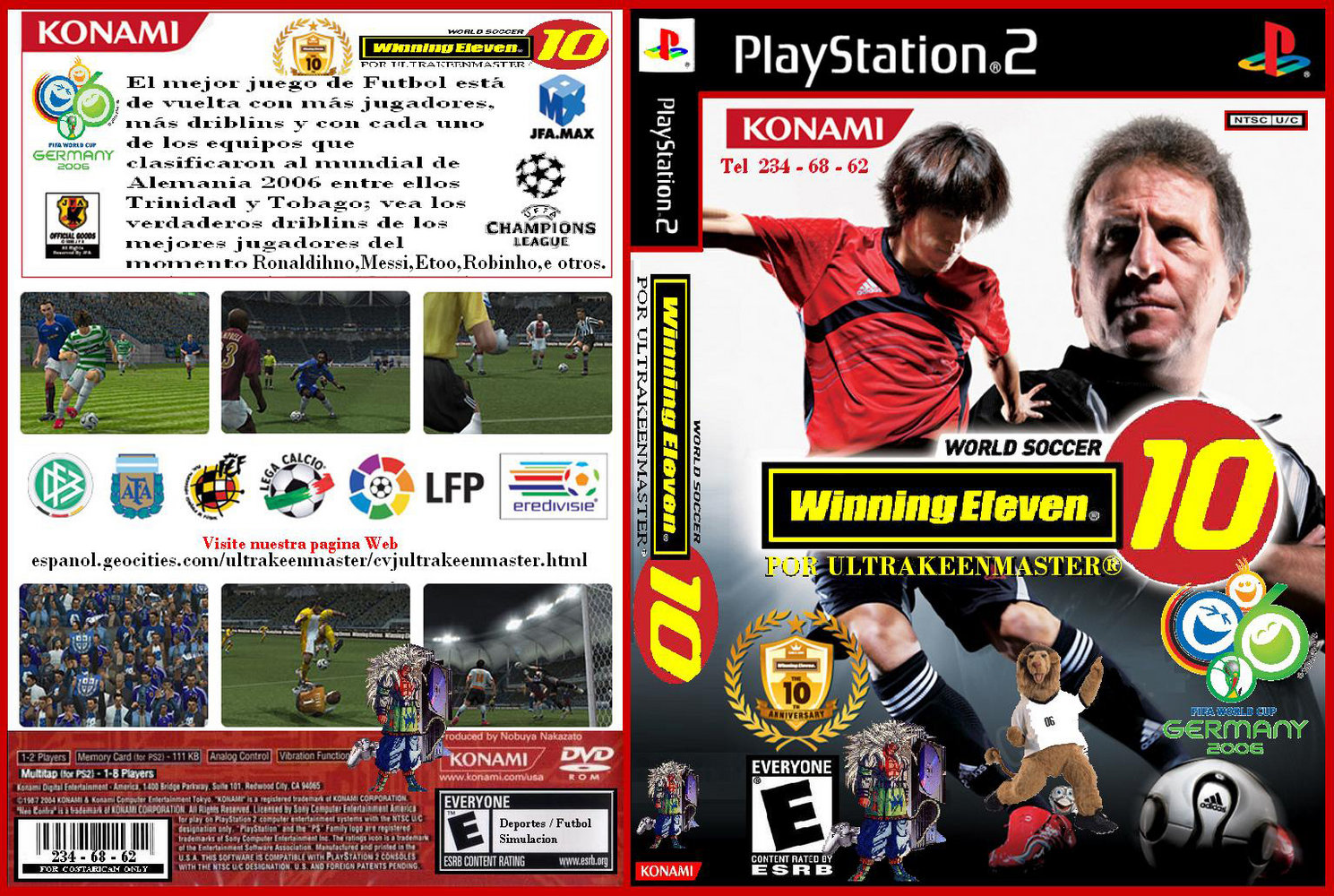 Covers Box Sk Winning Eleven 10 High Quality Dvd Blueray Movie