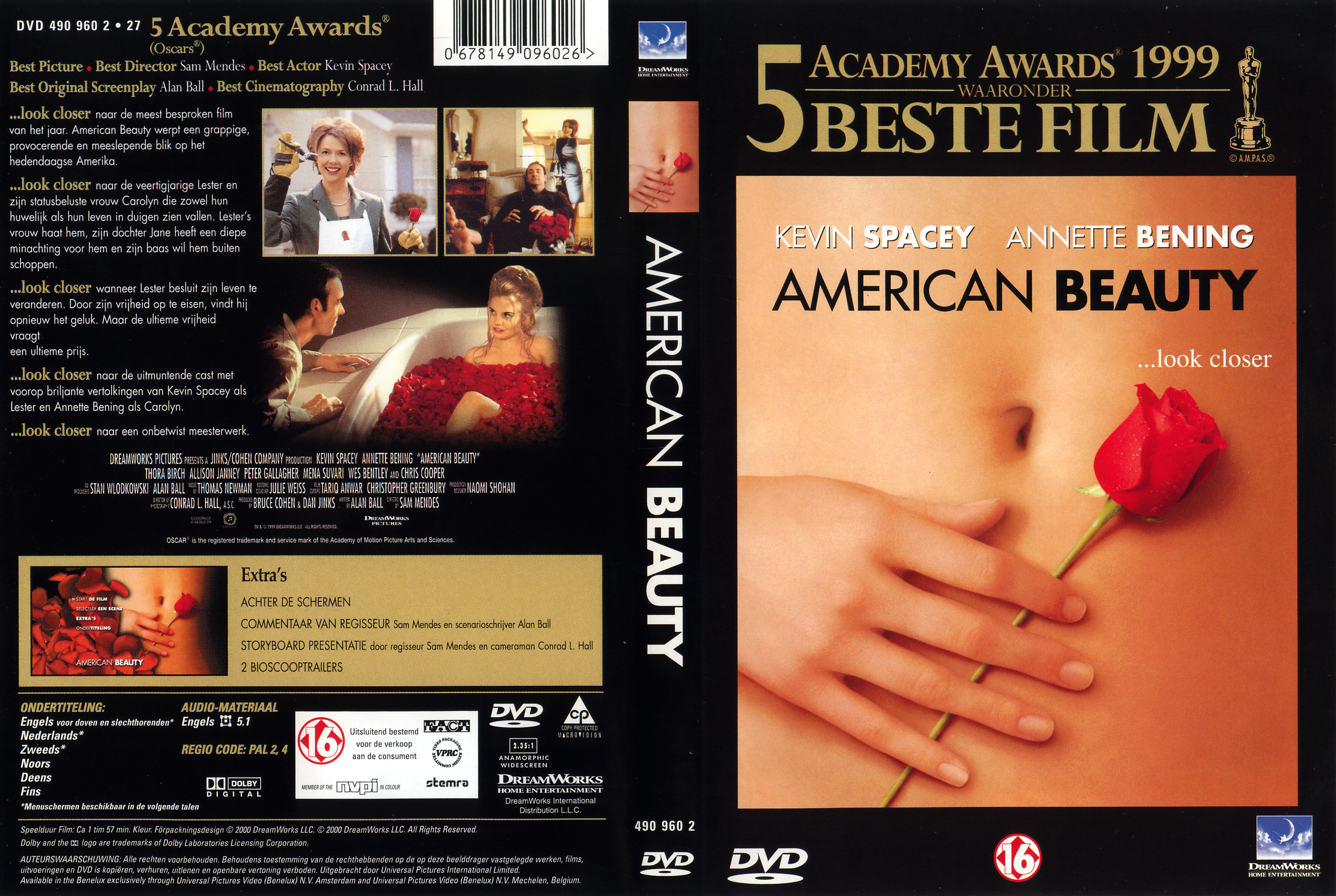 Covers Box Sk American Beauty 1999 High Quality Dvd Blueray Movie