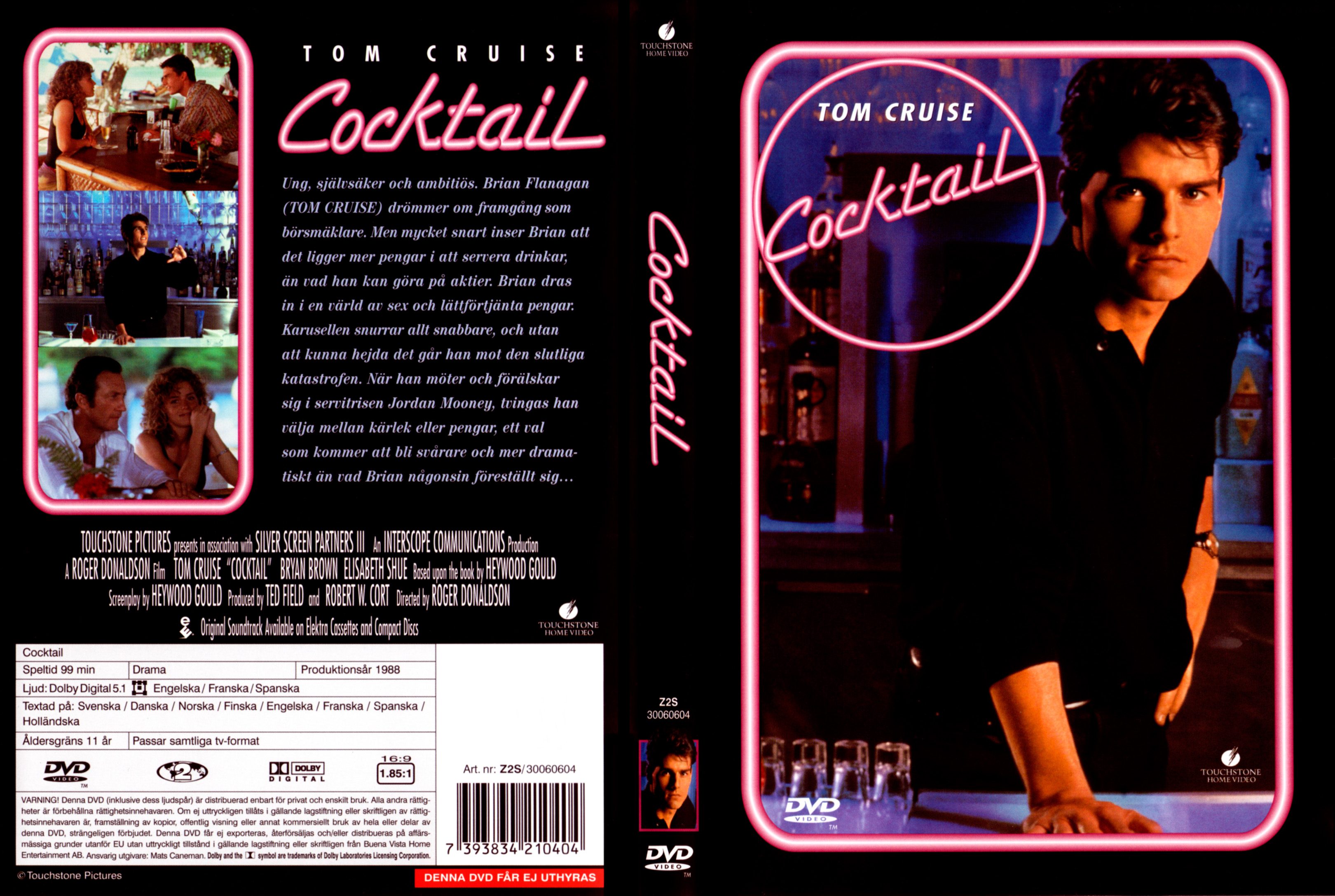 Covers box sk cocktail 1988 high quality dvd blueray movie