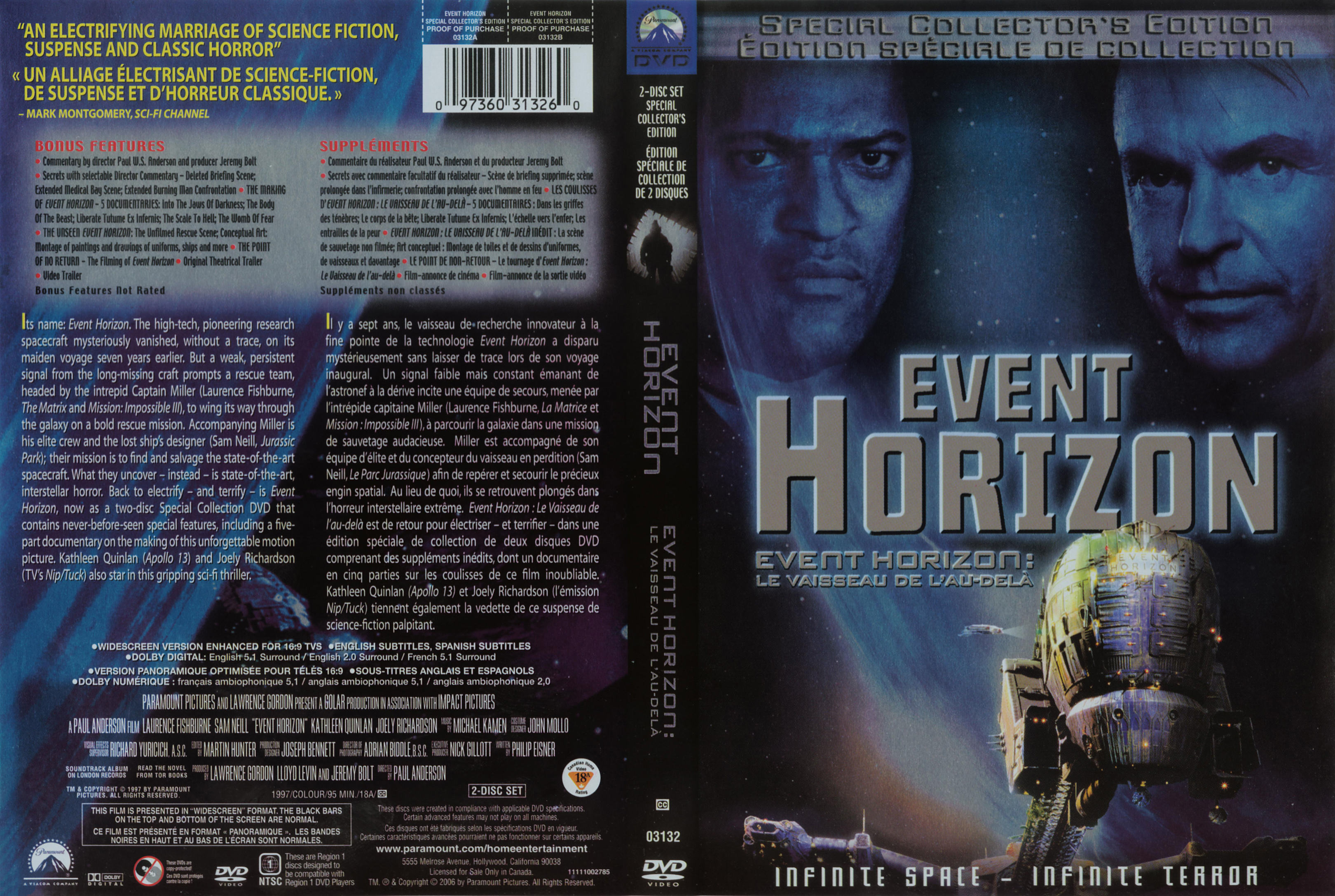 Covers Box Sk Event Horizon 2 Disc Collectors Edition High