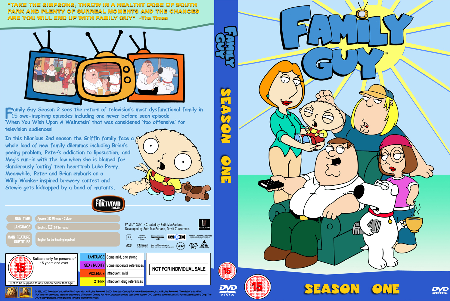 COVERS BOX SK ::: family guy season 1 - high quality DVD / Blueray
