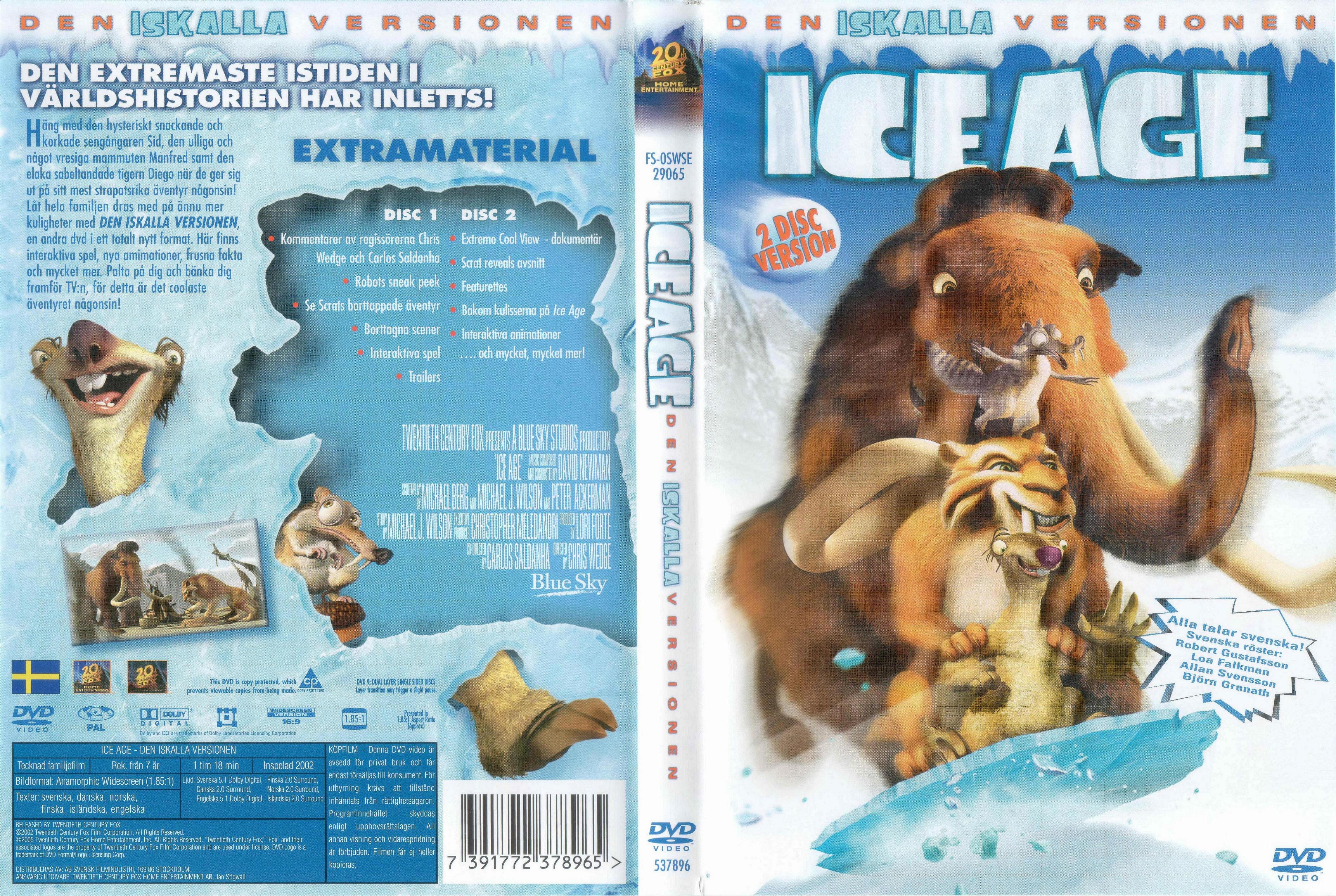 Movies on dvd and blu-ray: ice age (2002).