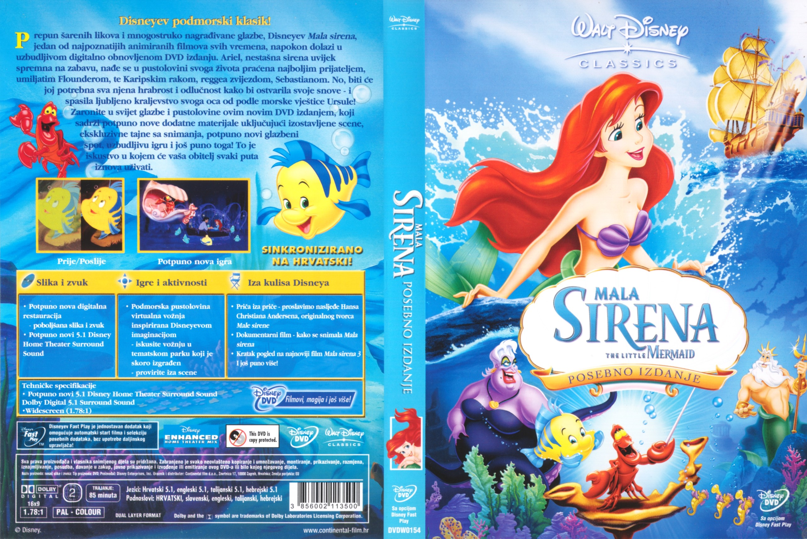Coversboxsk  The Little Mermaid - High Quality Dvd -9383