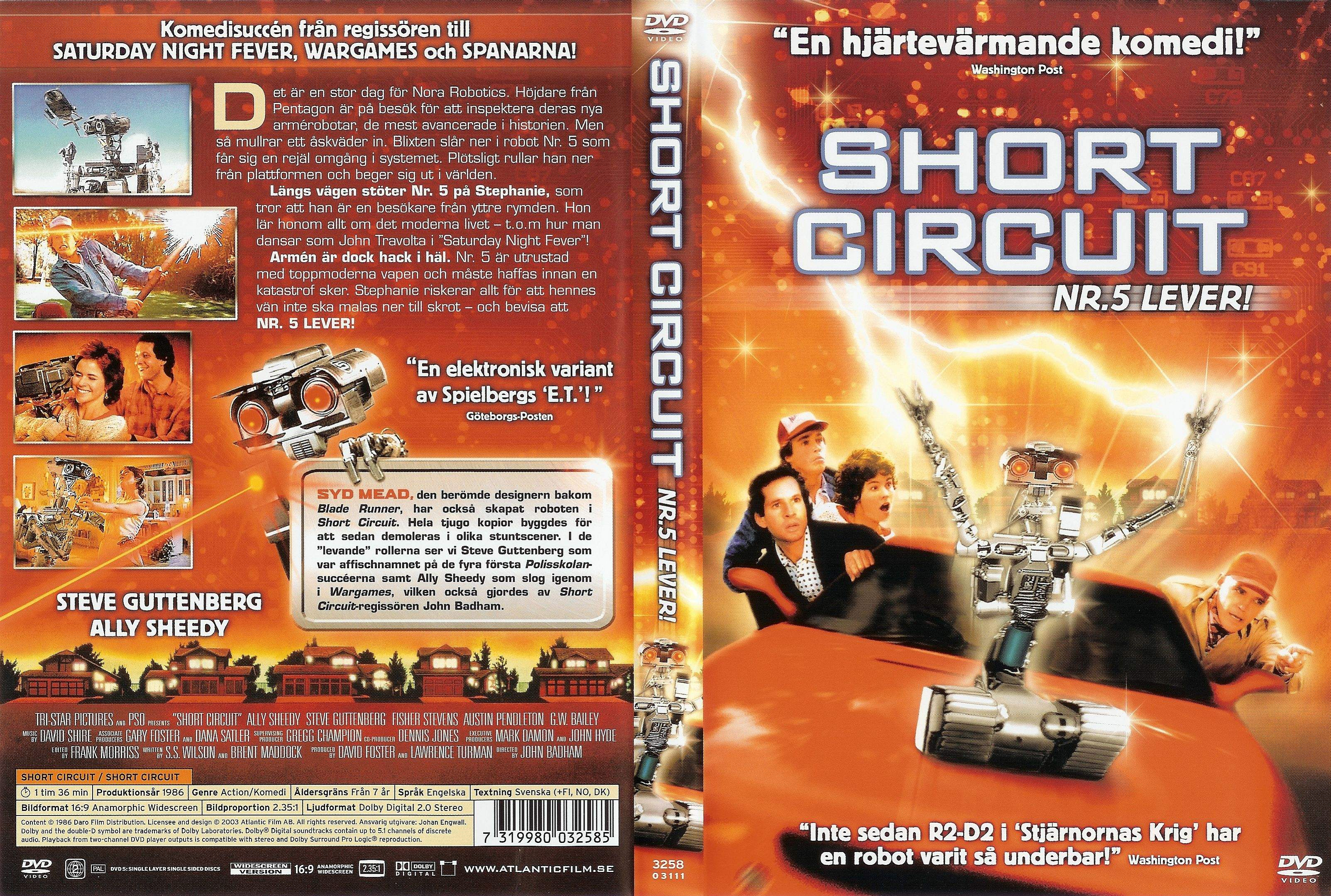 coversboxsk short circuit nr 5 lever high quality dvd