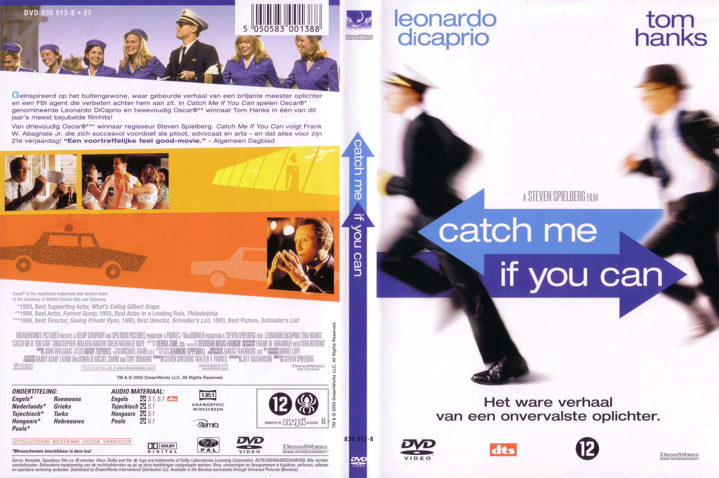 Covers Box Sk Catch Me If You Can 2002 High Quality Dvd