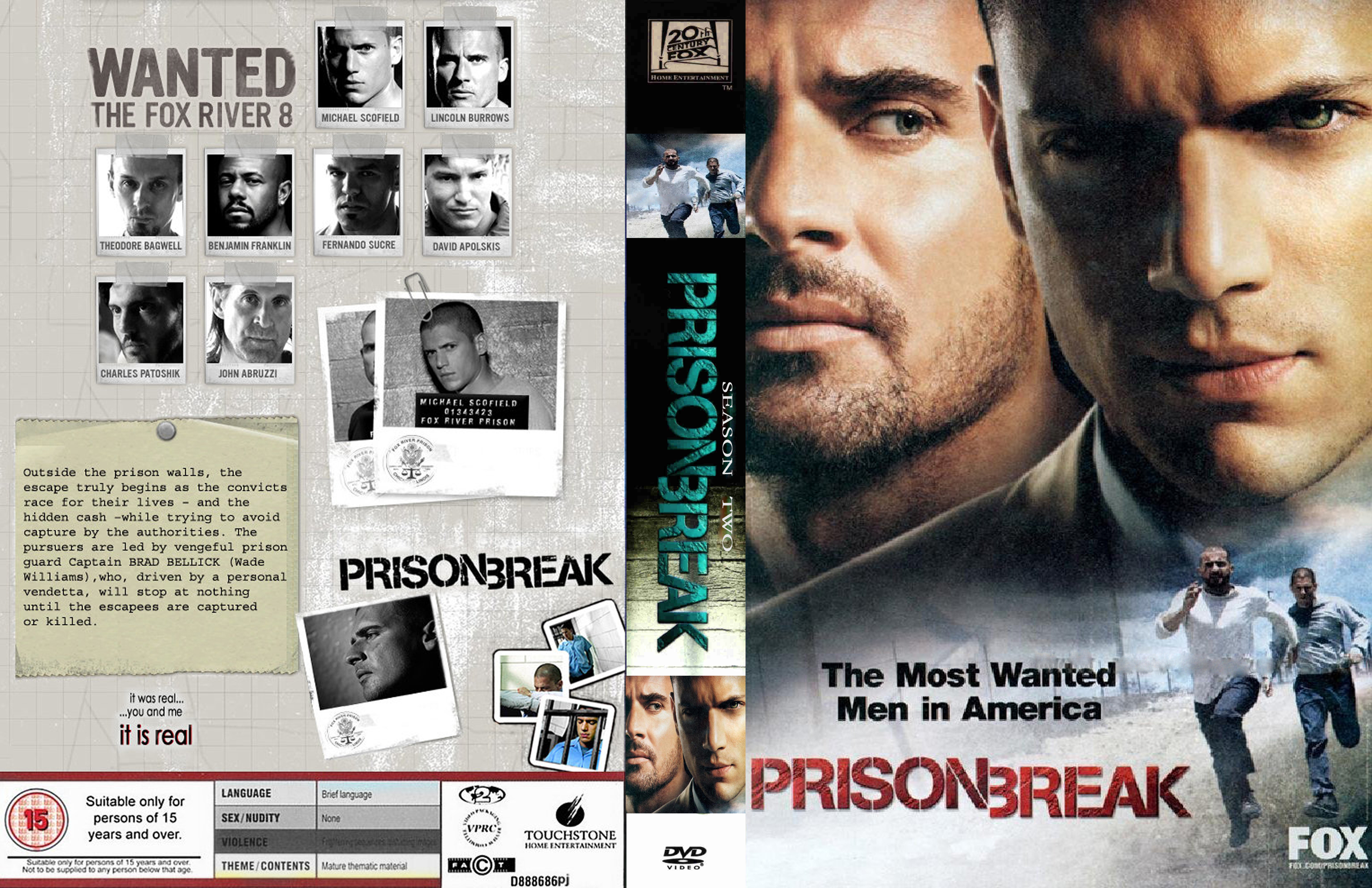 Covers Box Sk Prison Break The Complete Season 2 Boxset High Quality Dvd Blueray Movie