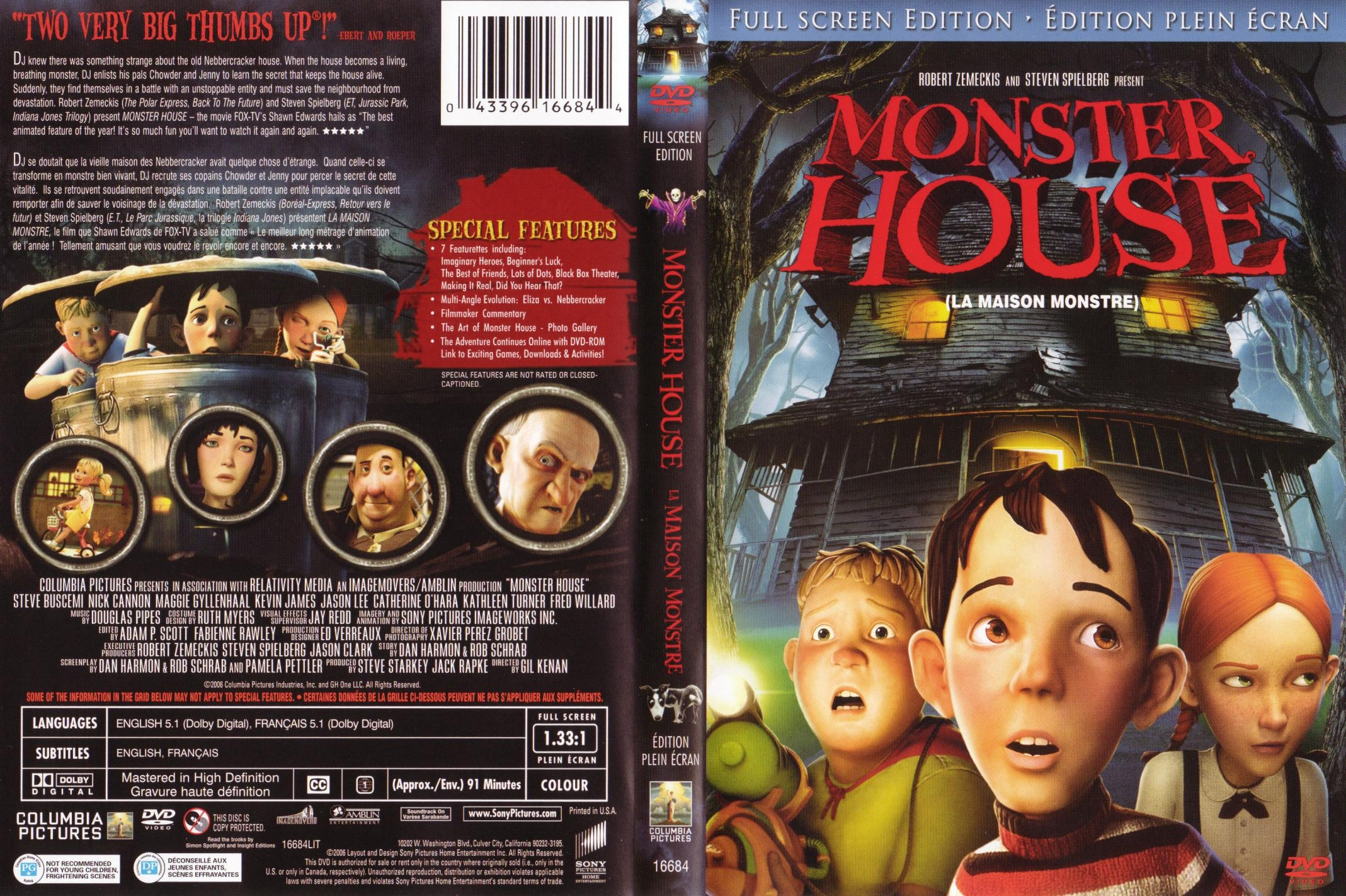 Covers Box Sk Monster House Cover Cd High Quality Dvd