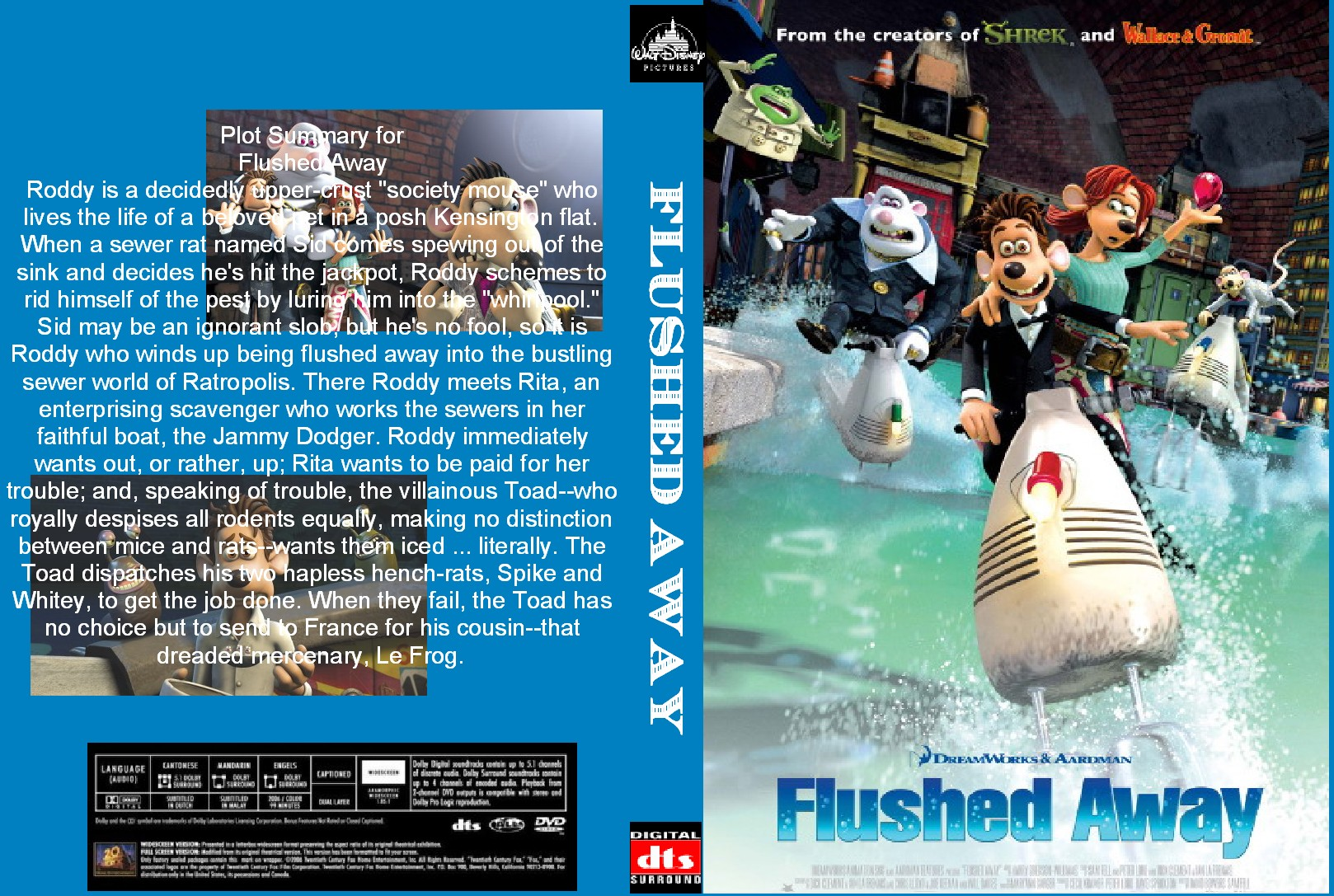Covers Box Sk Flushed Away 2006 High Quality Dvd Blueray Movie