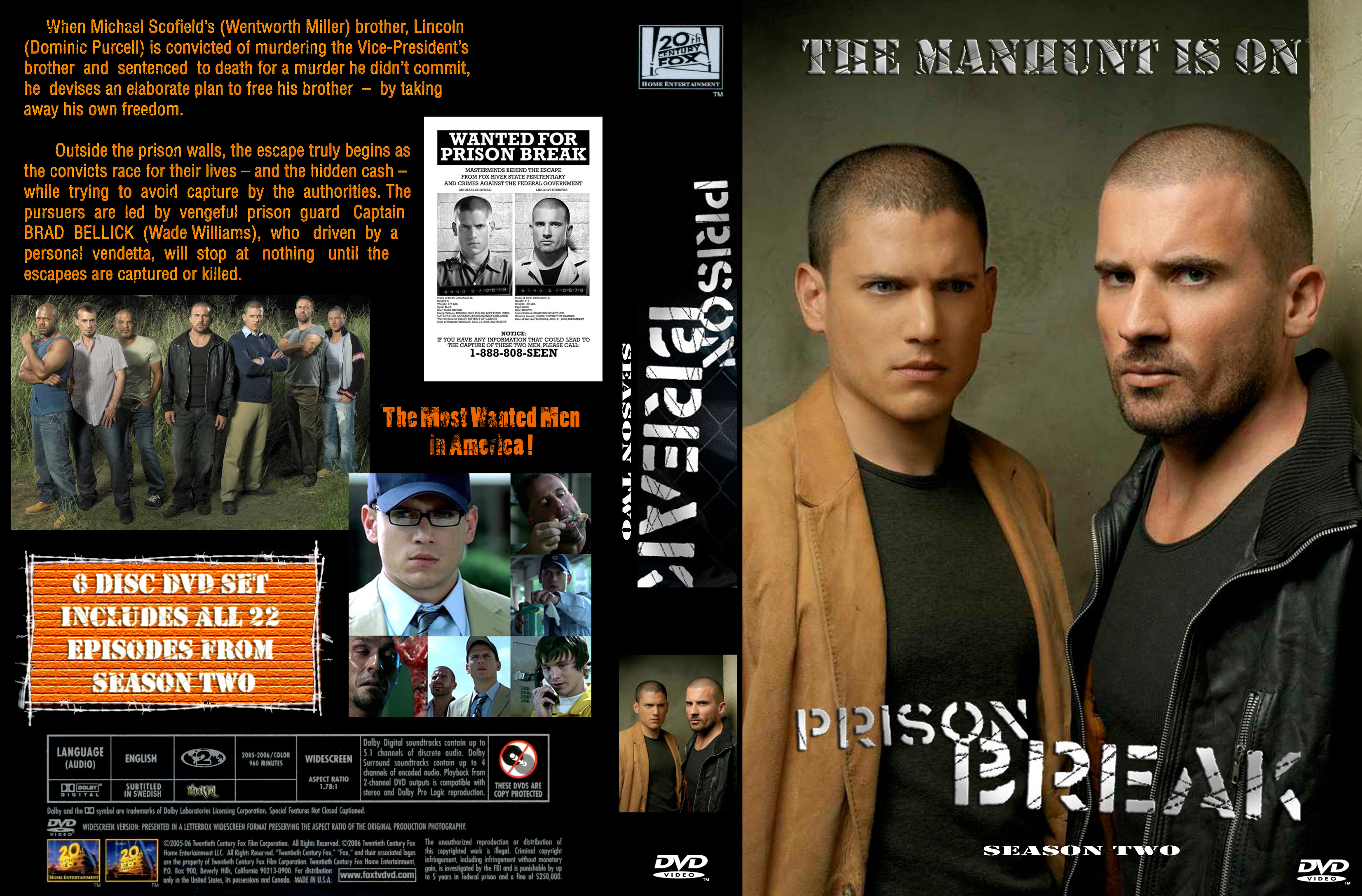Covers Box Sk Prison Break Season 2 Boxcover High Quality Dvd Blueray Movie