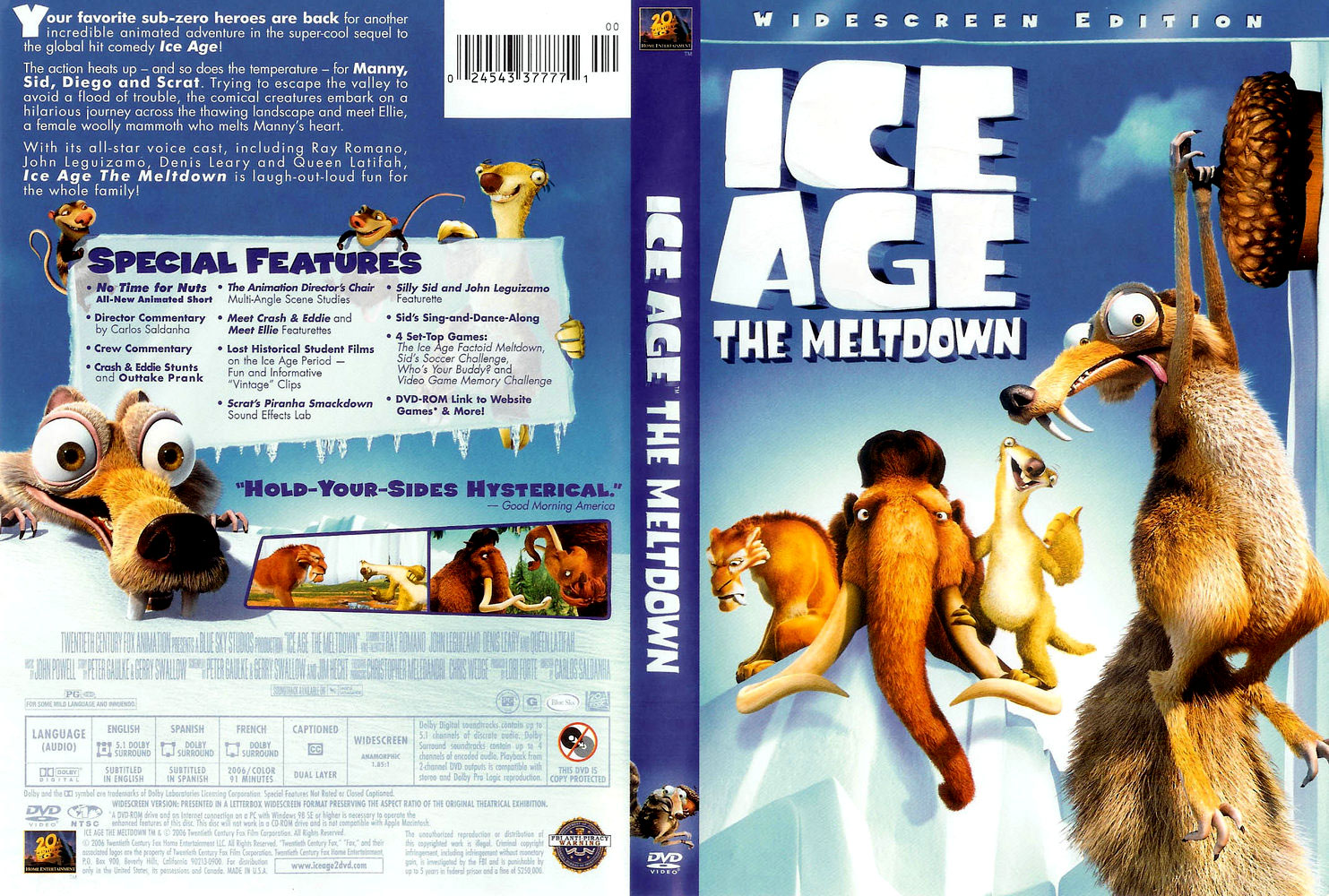 Covers Box Sk Ice Age The Meltdown High Quality Dvd Blueray Movie
