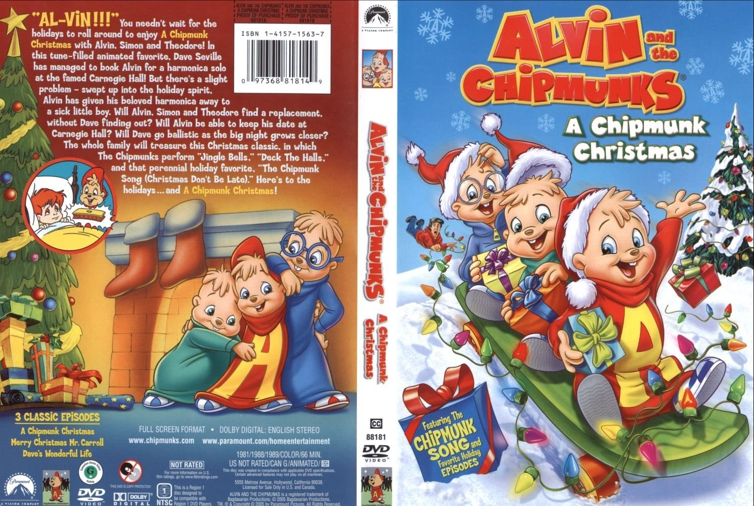 Alvin And The Chipmunks Christmas.Covers Box Sk Alvin And The Chipmunks A Chipmunk