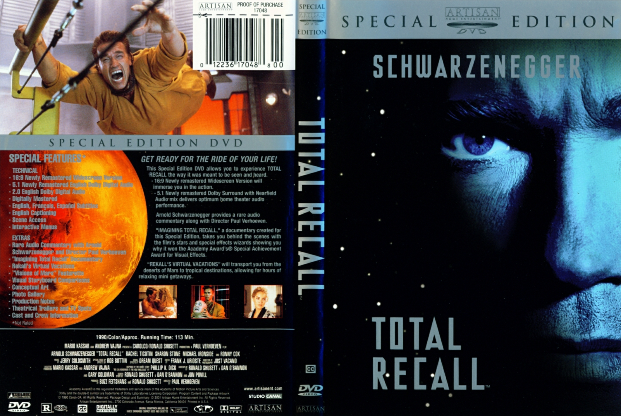 Total Recall 1990 Dvd Cover | www.imgkid.com - 1832.3KB