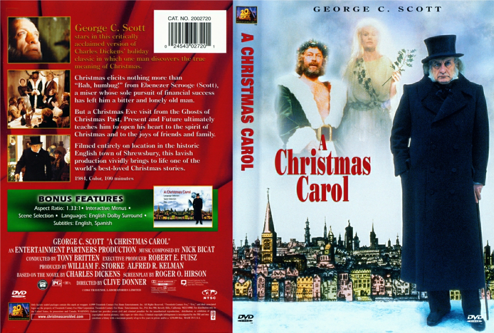 George C Scott A Christmas Carol.Covers Box Sk A Christmas Carol George C Scott High