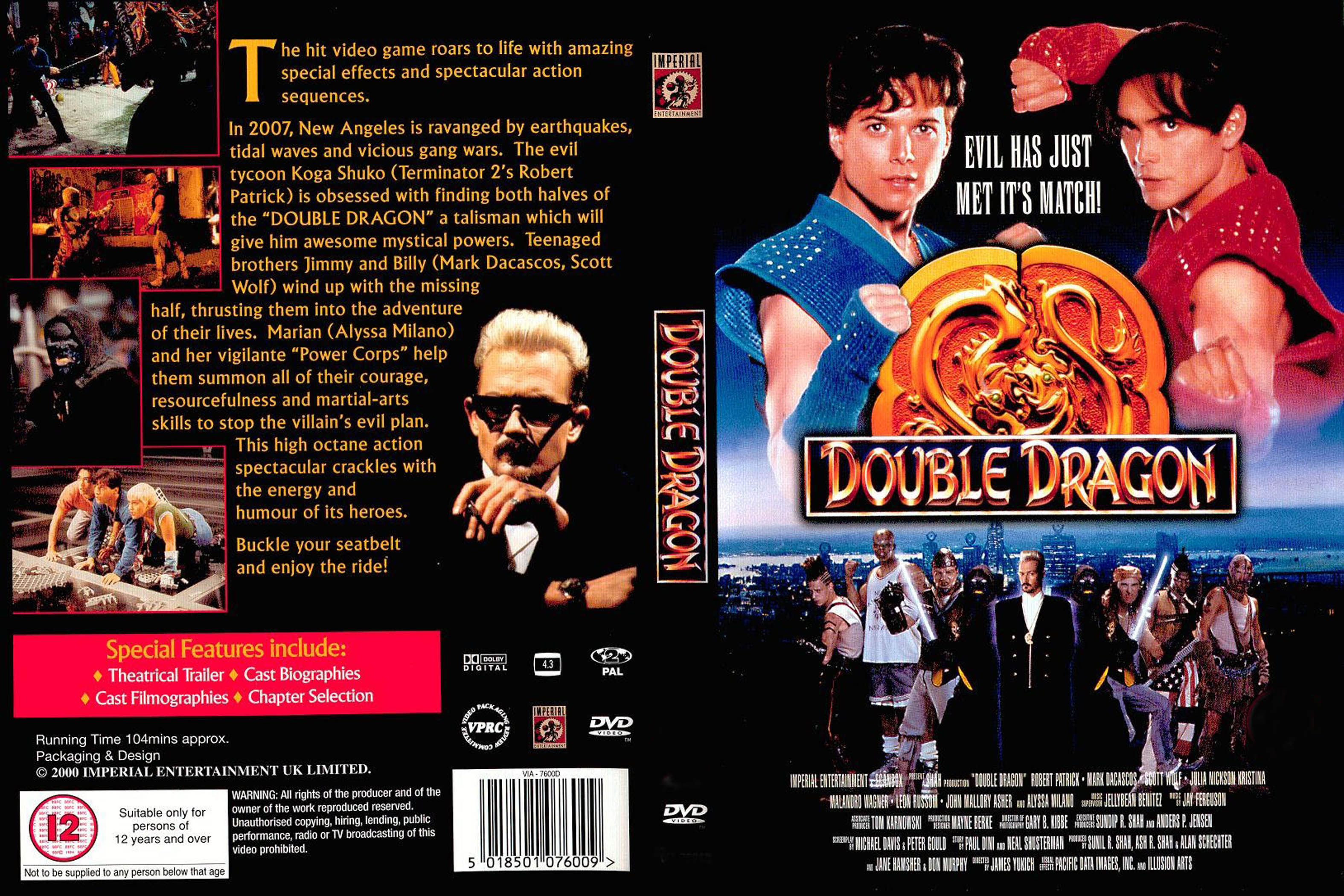 Covers Box Sk Double Dragon R2 High Quality Dvd Blueray