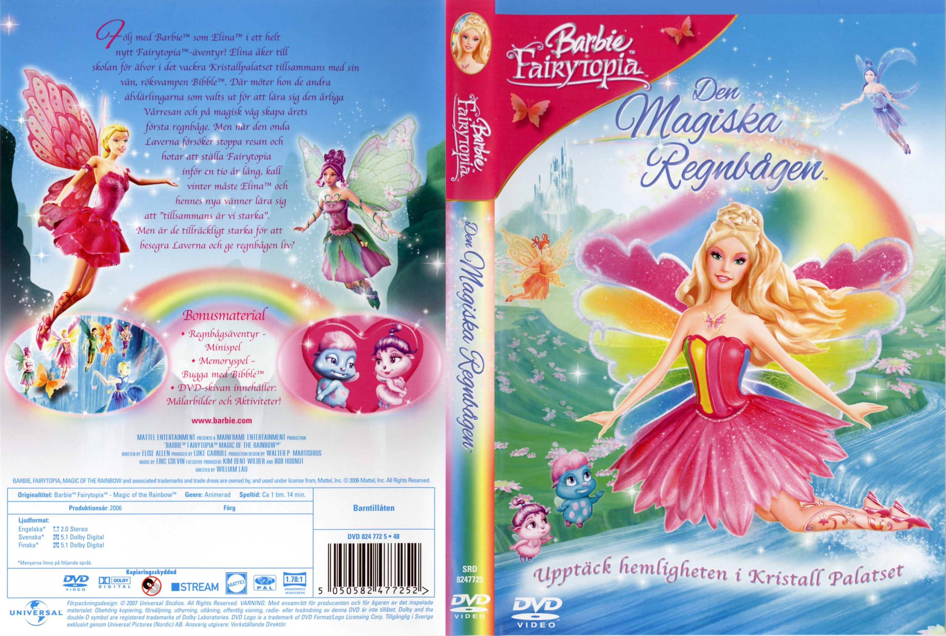 Barbie fairytopia magic of the rainbow dvd