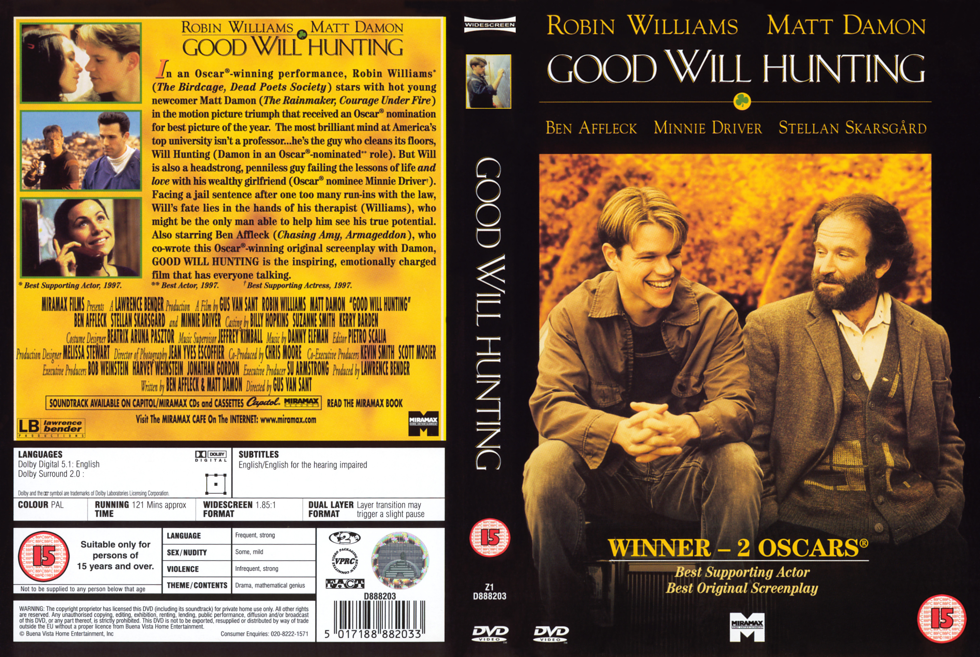 Covers Box Sk Good Will Hunting 1997 High Quality Dvd Blueray Movie