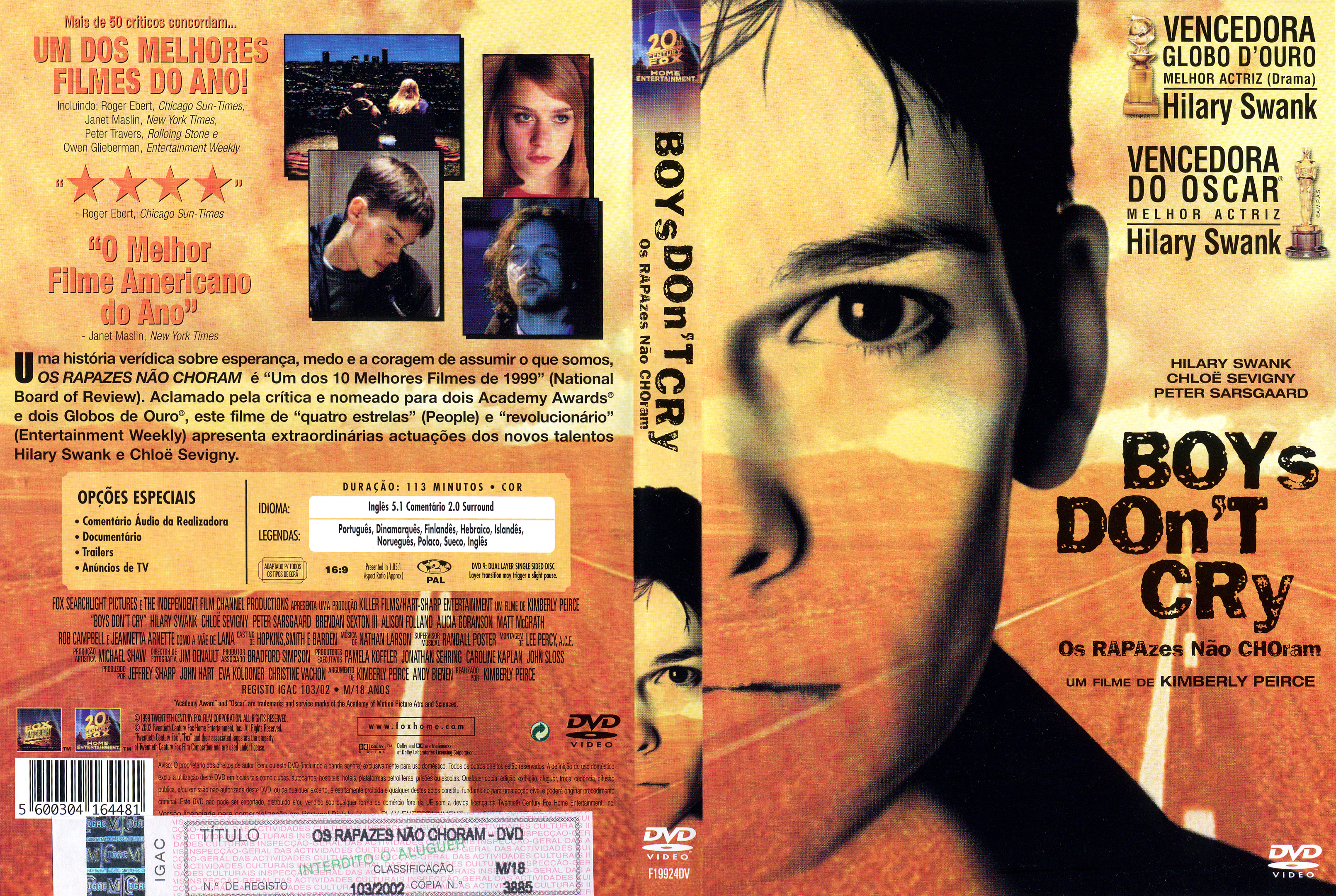 Boys Don't Cry Poster Boys Don't Cry 1999 Front