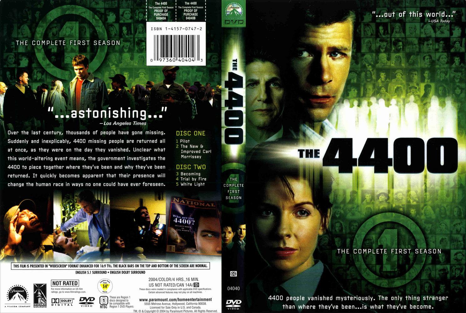 COVERS BOX SK ::: 4400 Season 1 R1 - high quality DVD