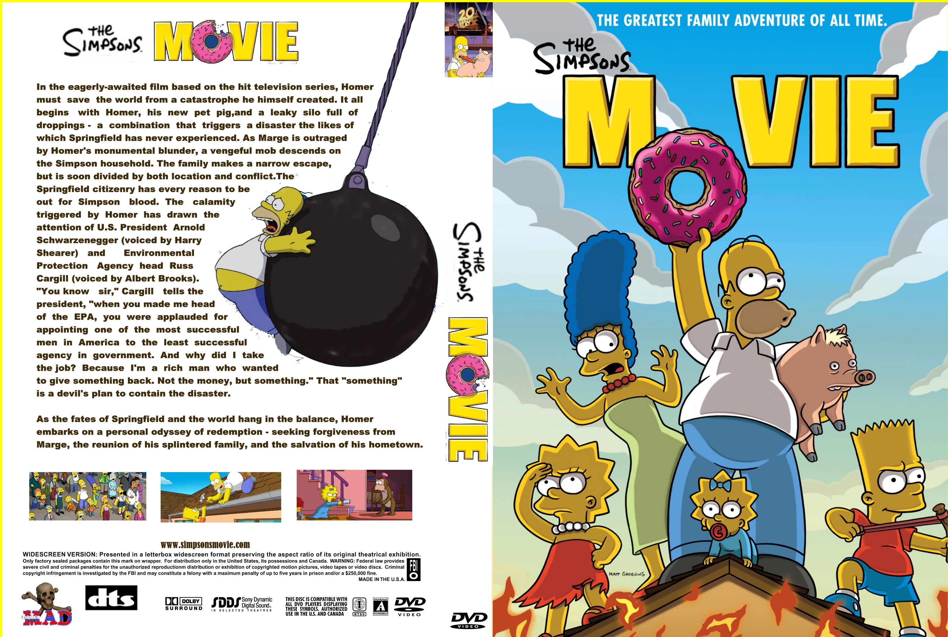 Covers Box Sk Simpsons Movie High Quality Dvd Blueray Movie