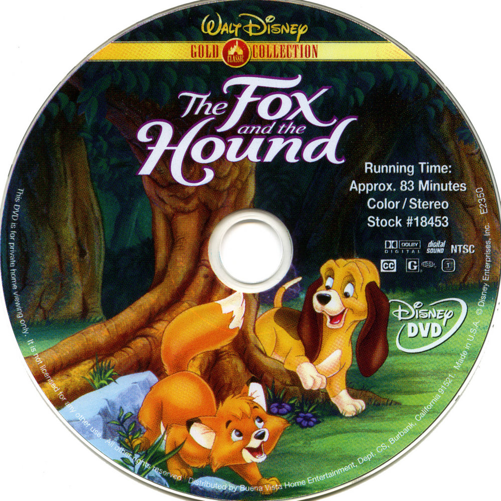 COVERS.BOX.SK ::: Fox and the Hound, The (1981) - high quality DVD ...