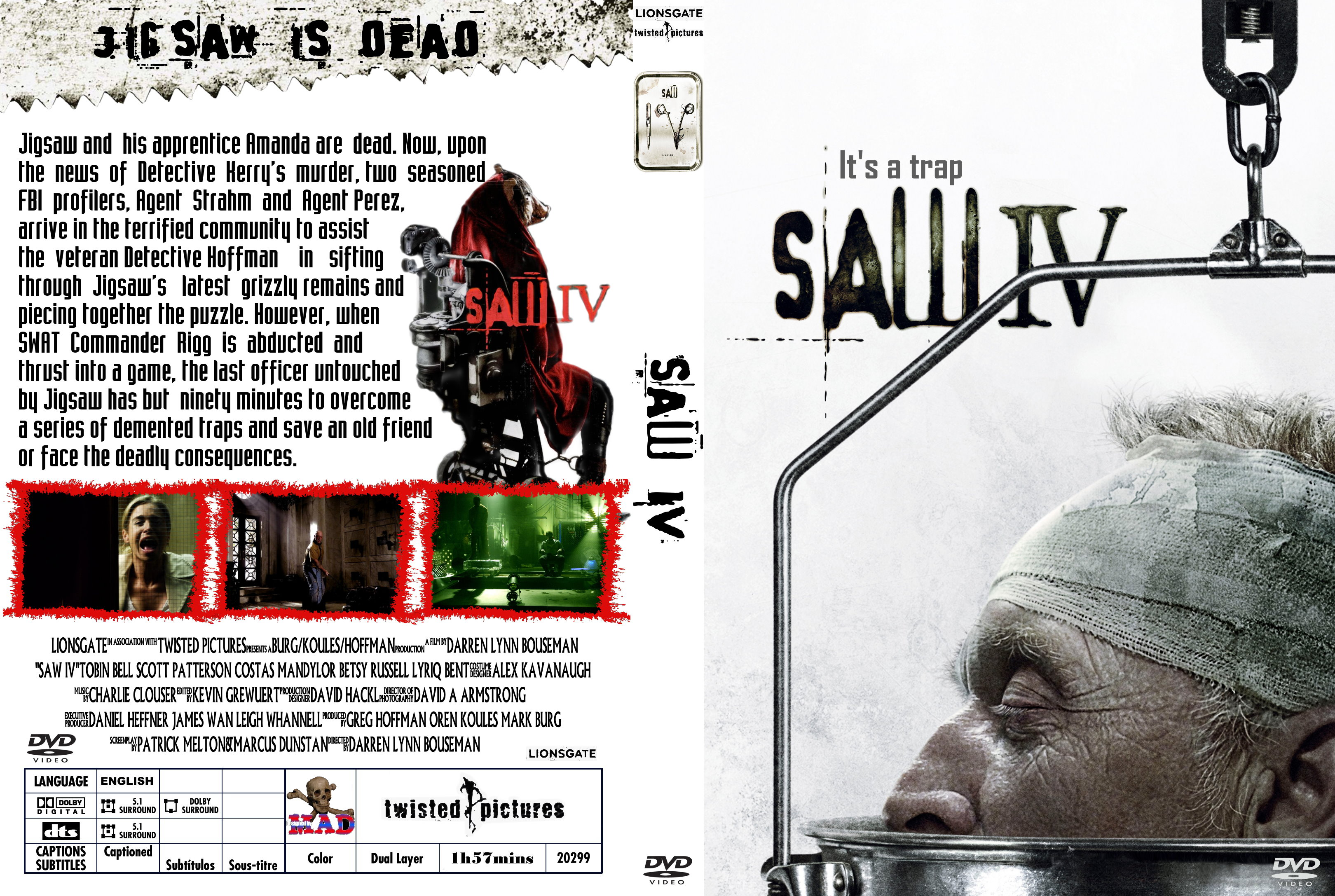 COVERS BOX SK ::: saw 4 - high quality DVD / Blueray / Movie