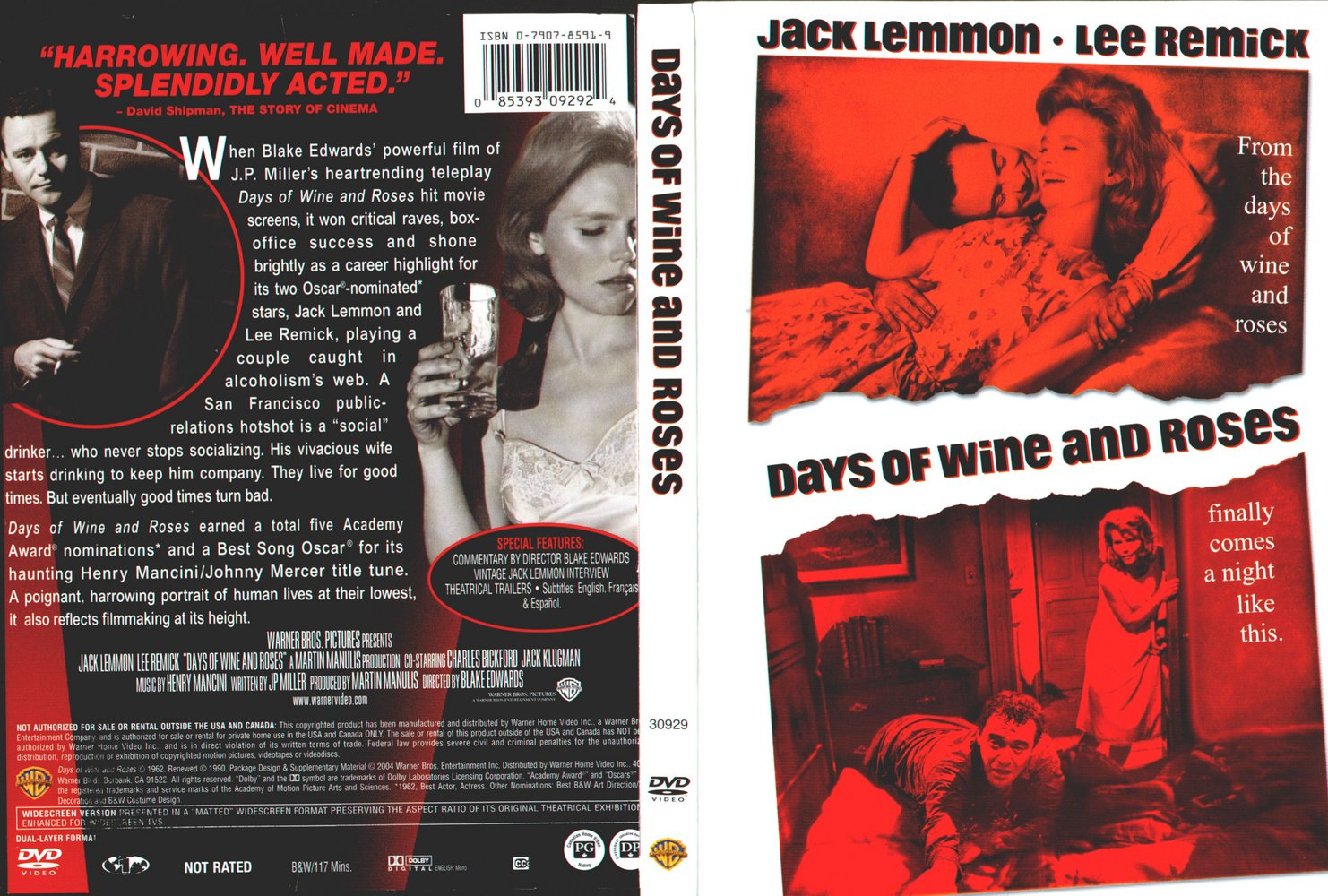 Days of Wine and Roses no Cineclube Padre Feijoo