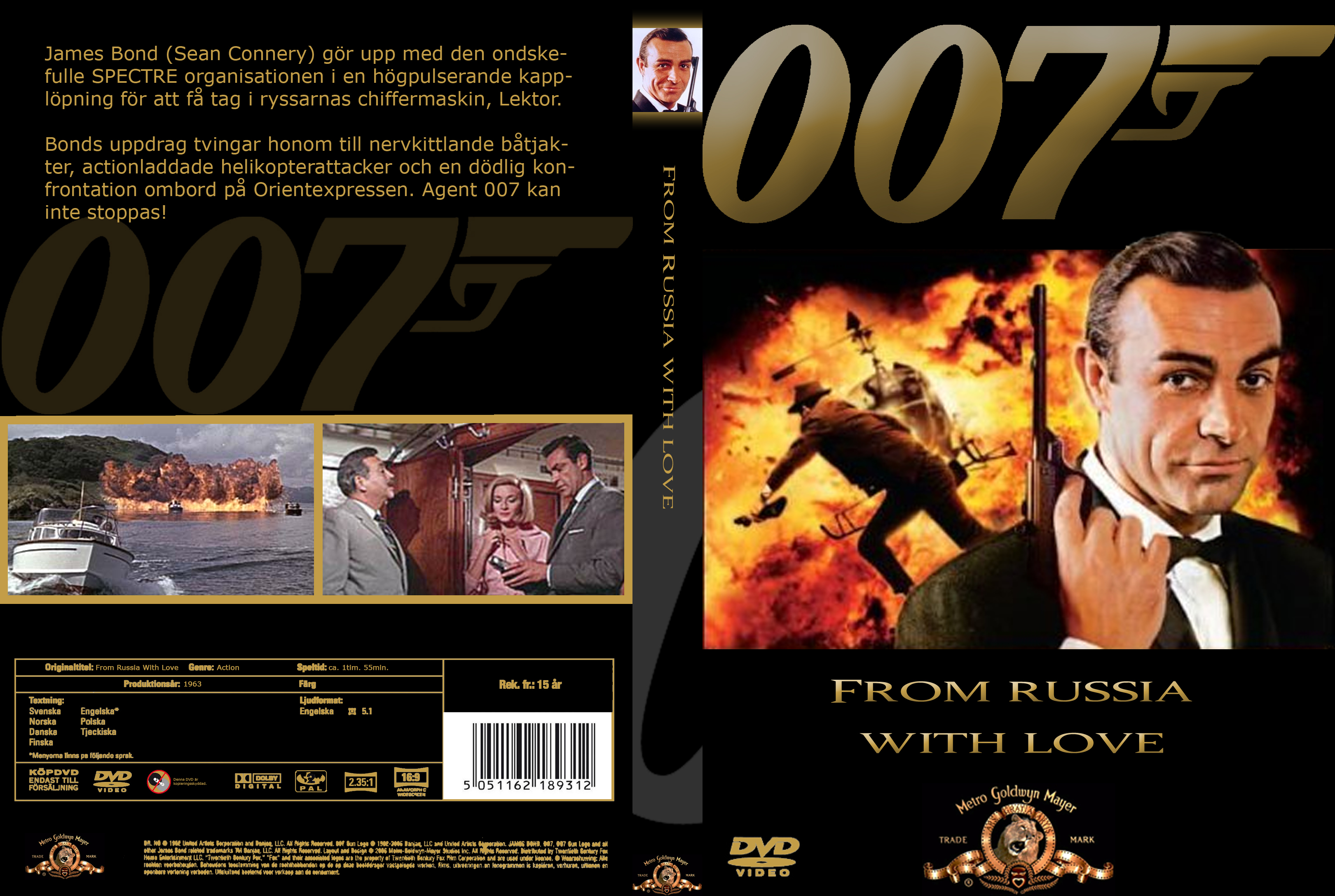 COVERS.BOX.SK ::: 007 - From Russia With Love - high quality DVD ...