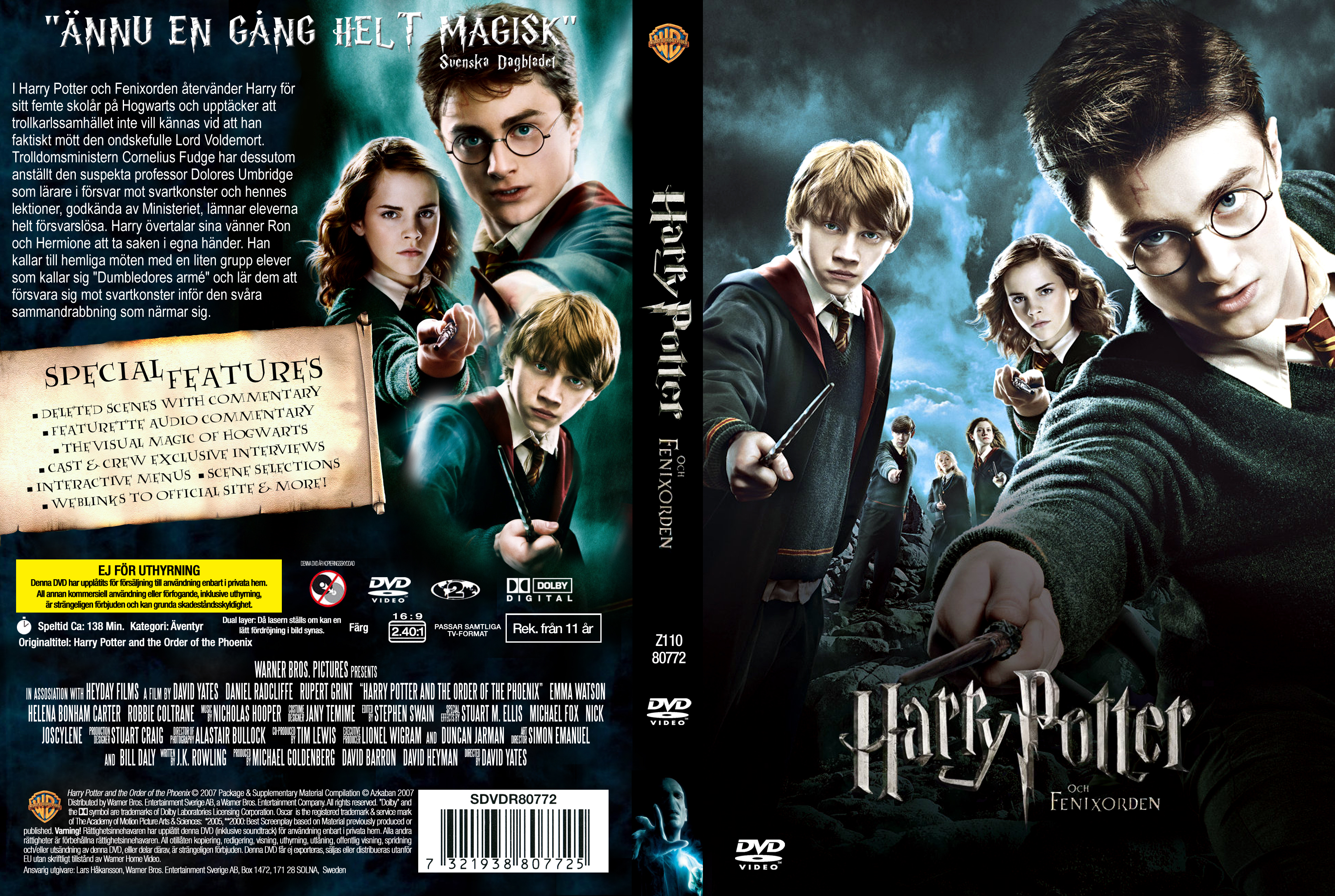 Covers Box Sk Harry Potter And The Order Of The Phoenix 2007 High Quality Dvd Blueray Movie