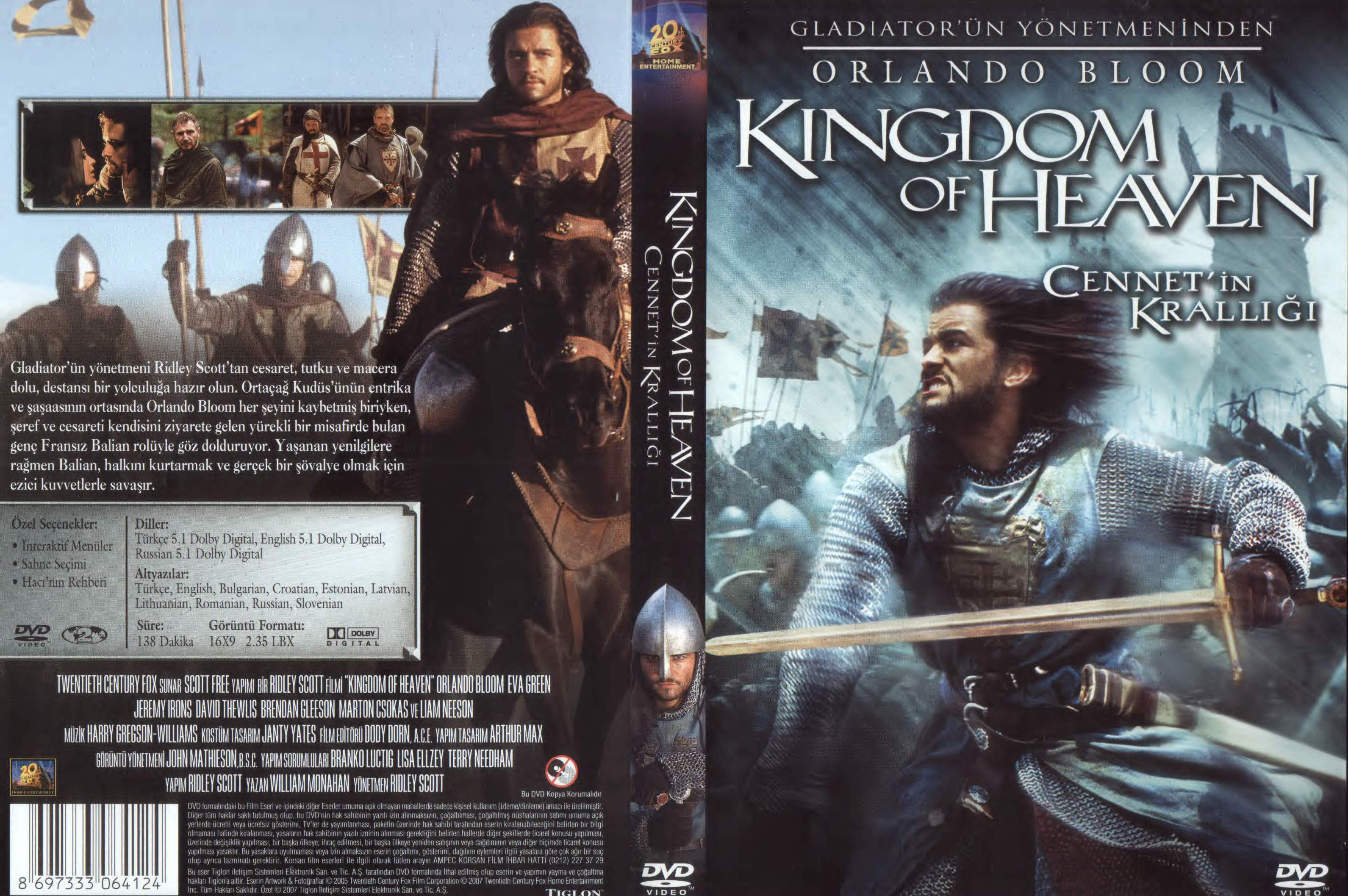 This is a photo of Lively Kingdom of Heaven Dvd Label