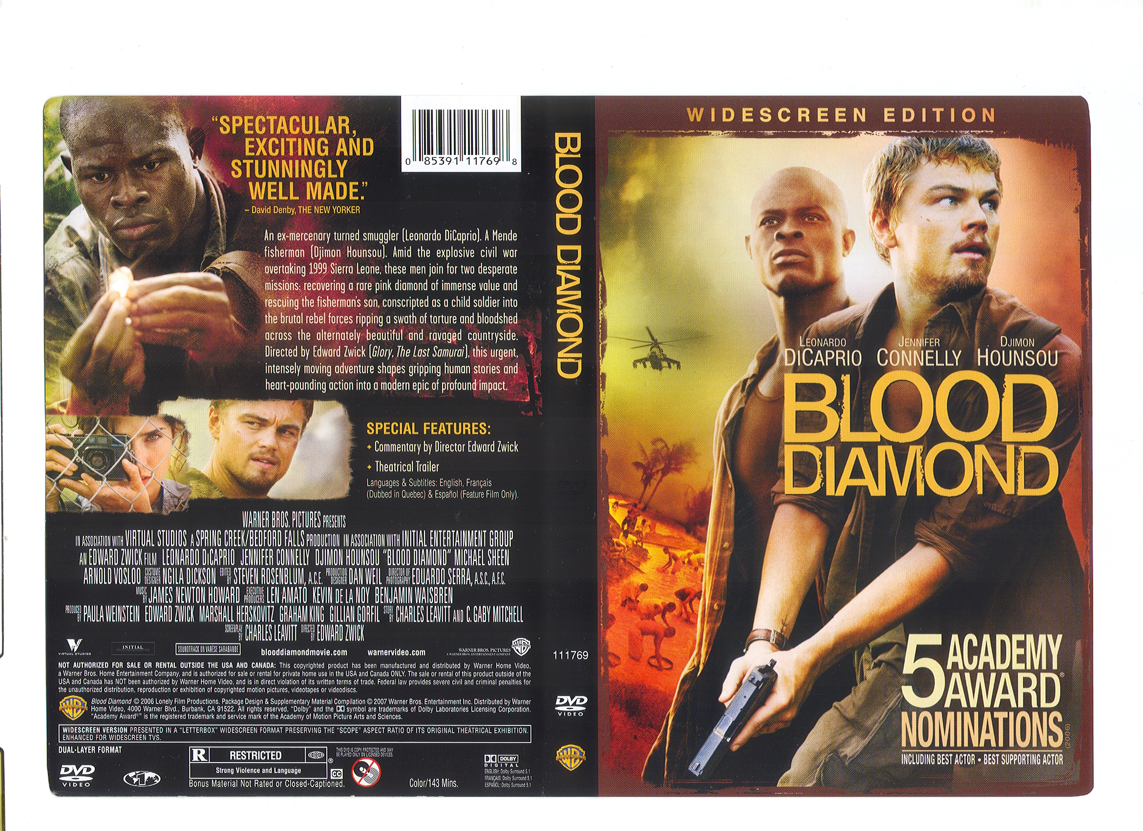 diamond warner anniversary canada ray blood edition bilingual front blu movies