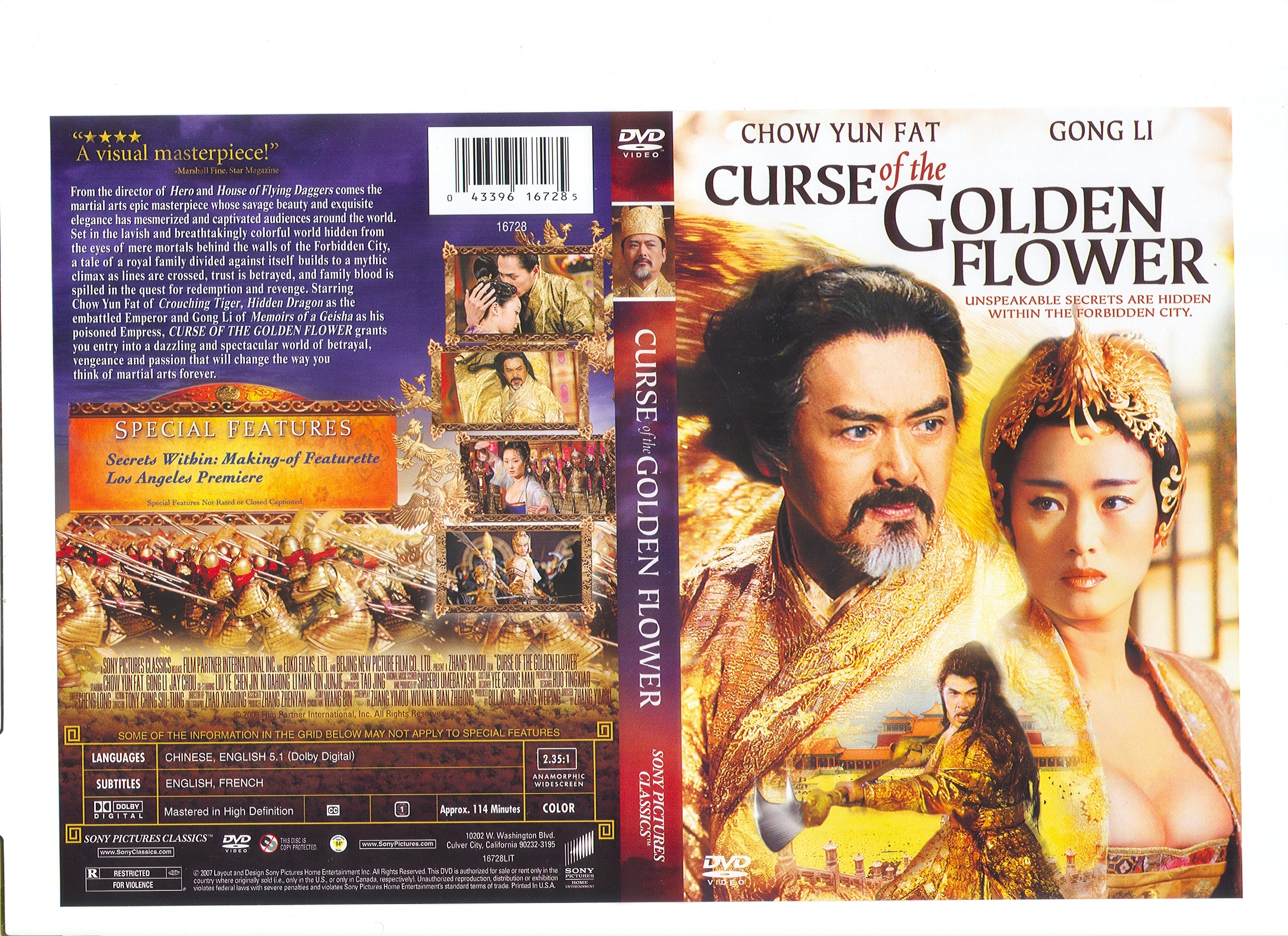 COVERS BOX SK curse of the golden flower high quality DVD Blueray M