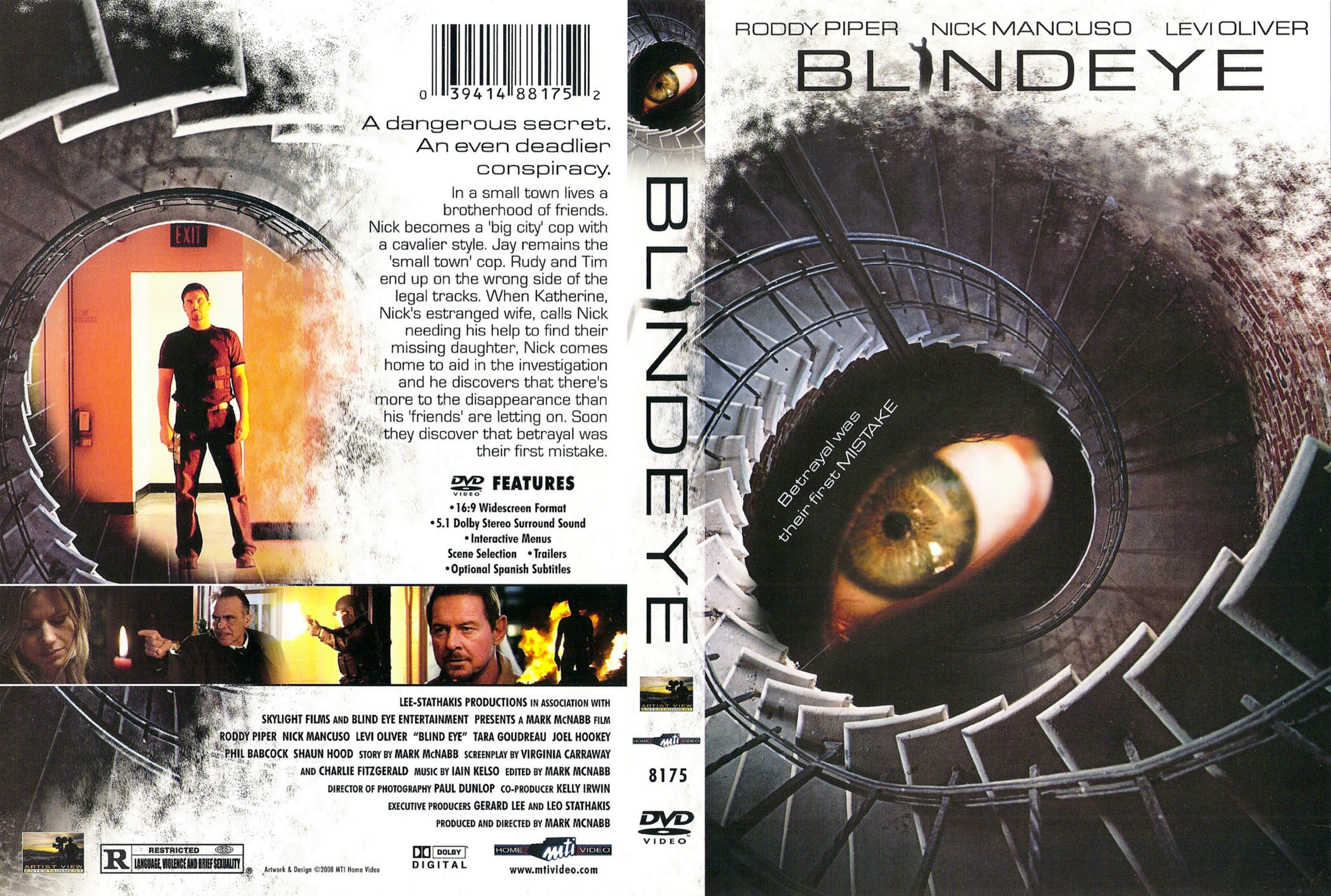 Covers Box Sk Blind Eye 2008 High Quality Dvd Blueray Movie