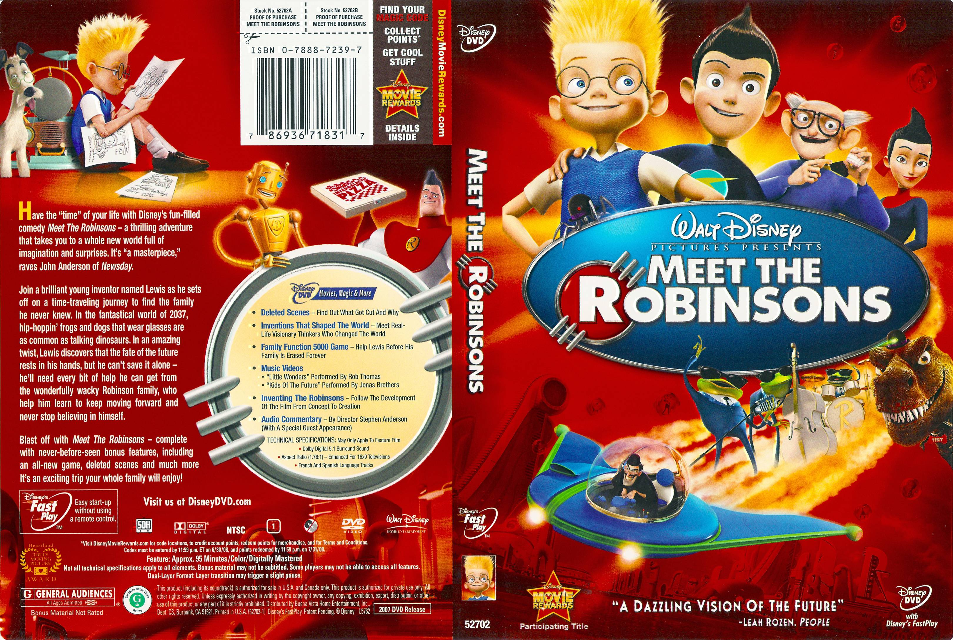 covers box sk meet the robinsons 2007 high quality dvd