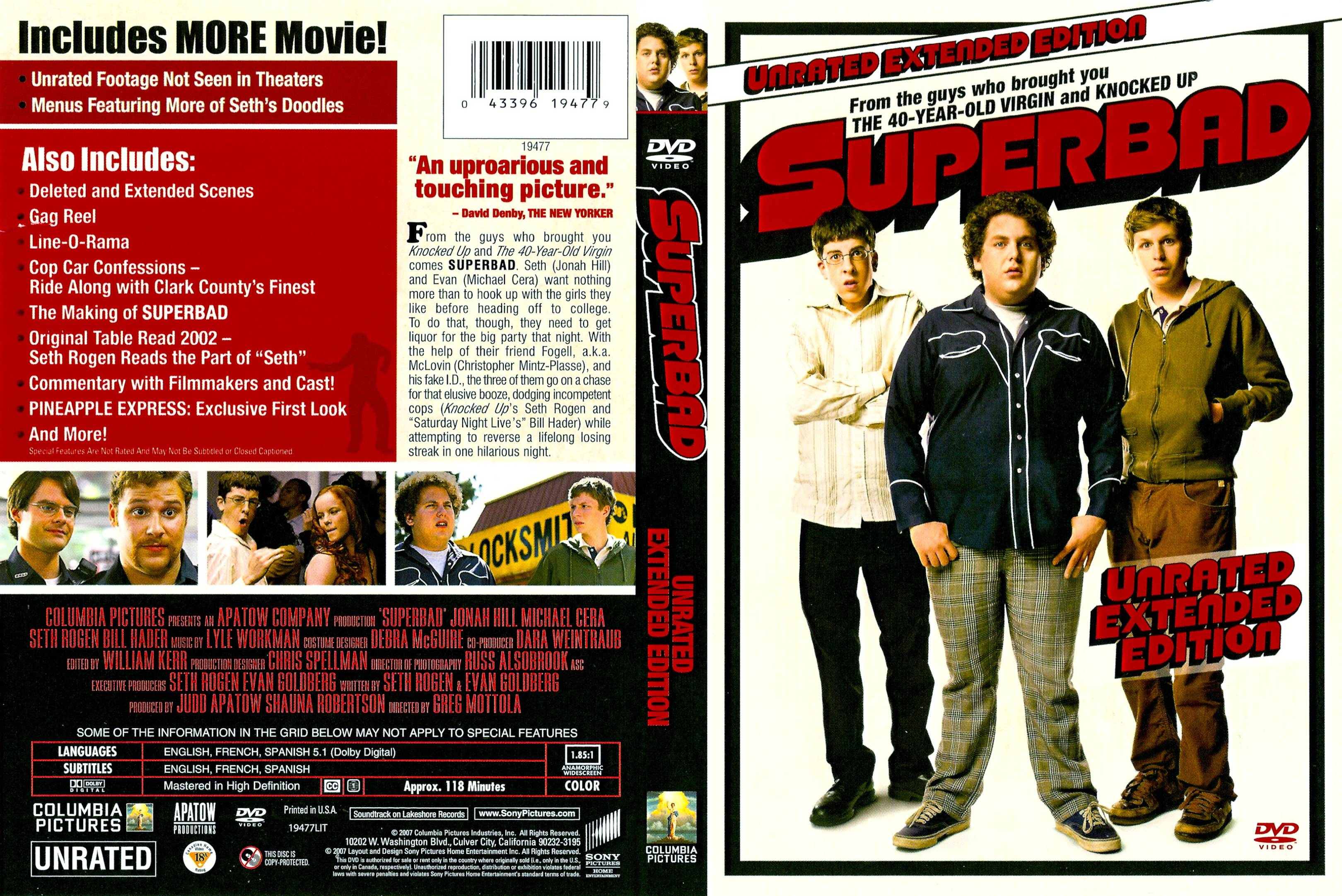 Covers Box Sk Superbad 2007 Unrated High Quality Dvd Blueray Movie