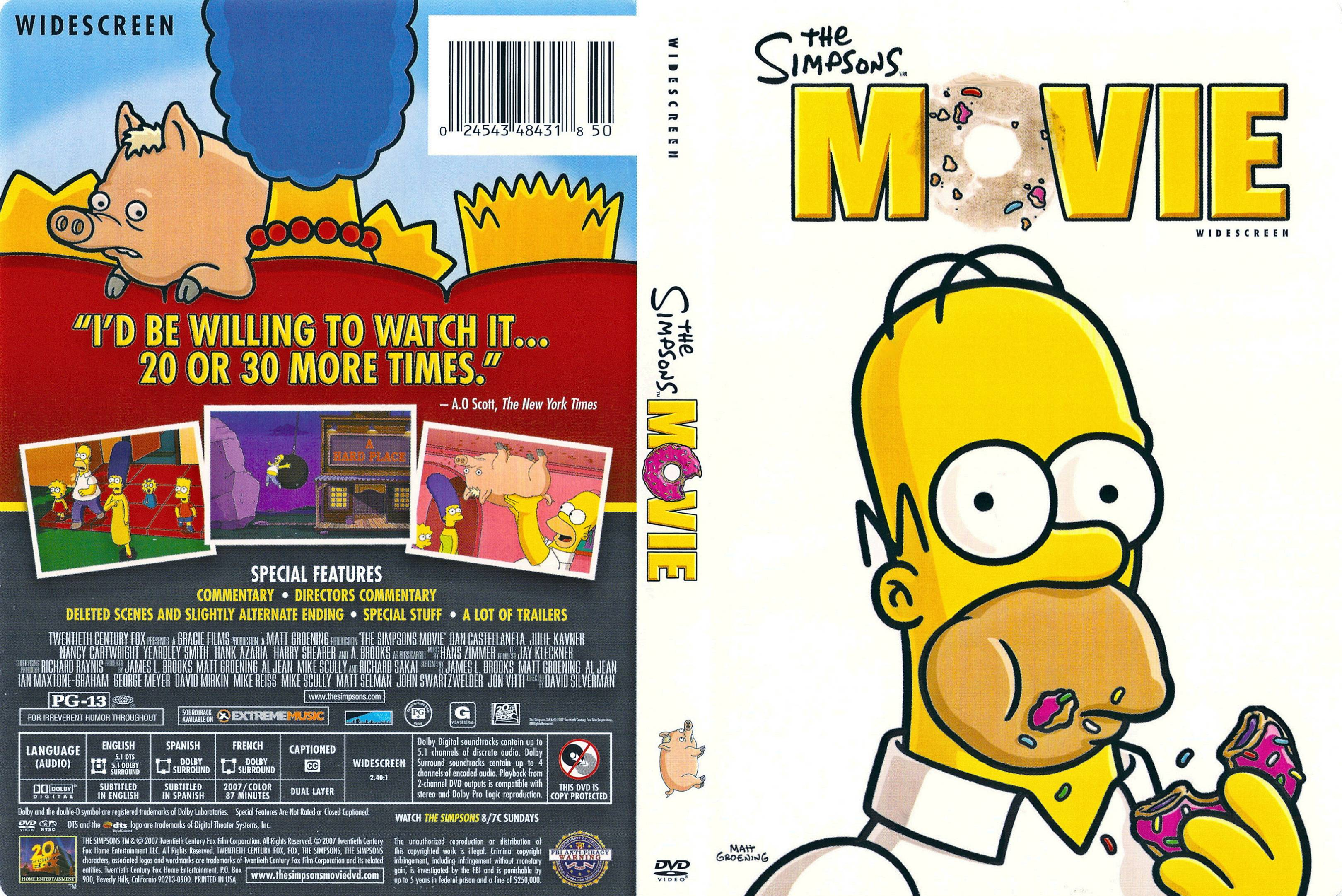Covers Box Sk The Simpsons Movie 2007 High Quality Dvd Blueray Movie