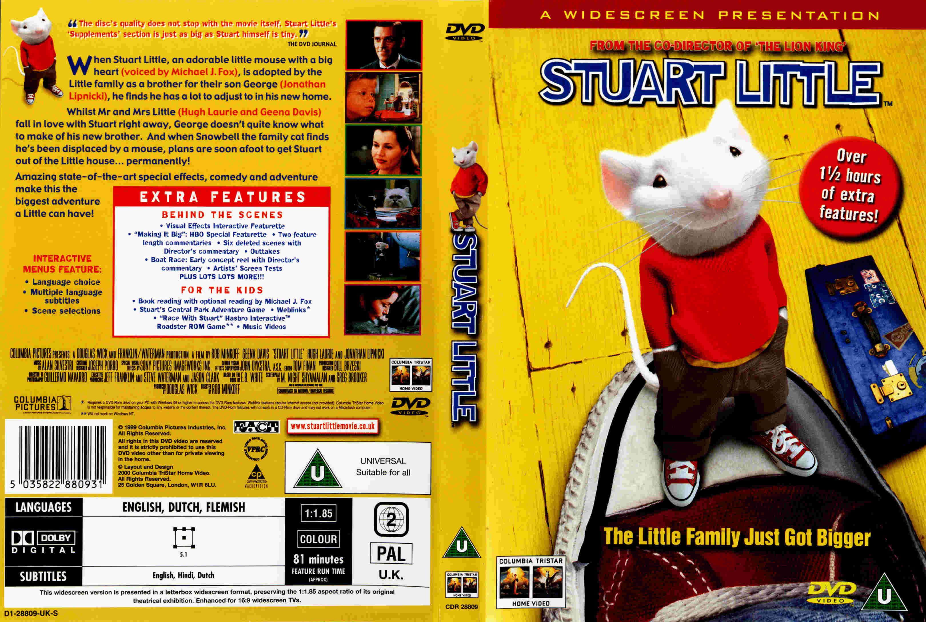 Covers Box Sk Stuart Little 1999 High Quality Dvd Blueray Movie