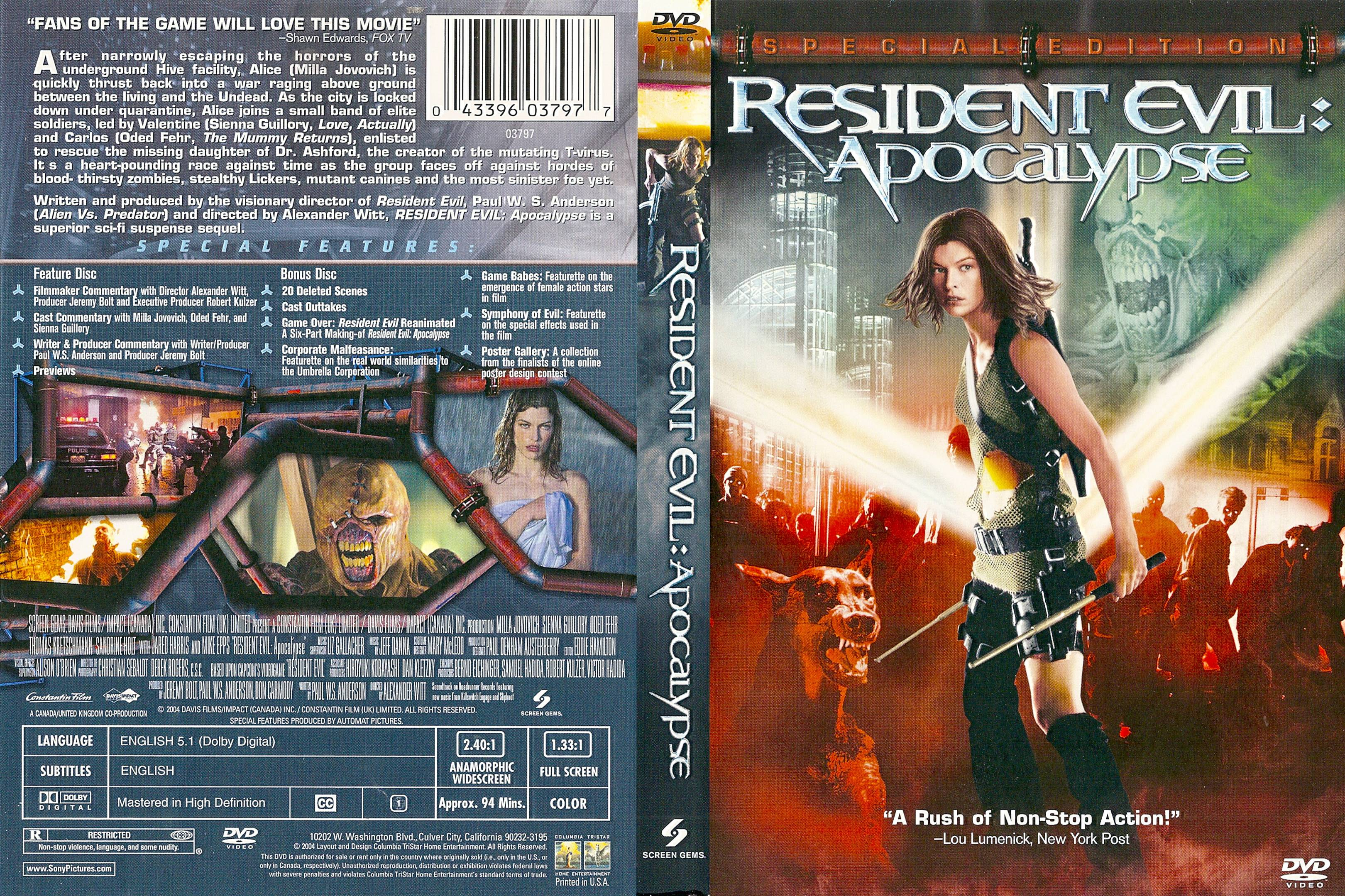COVERS BOX SK ::: Resident Evil: Apocalypse (2004) - high quality