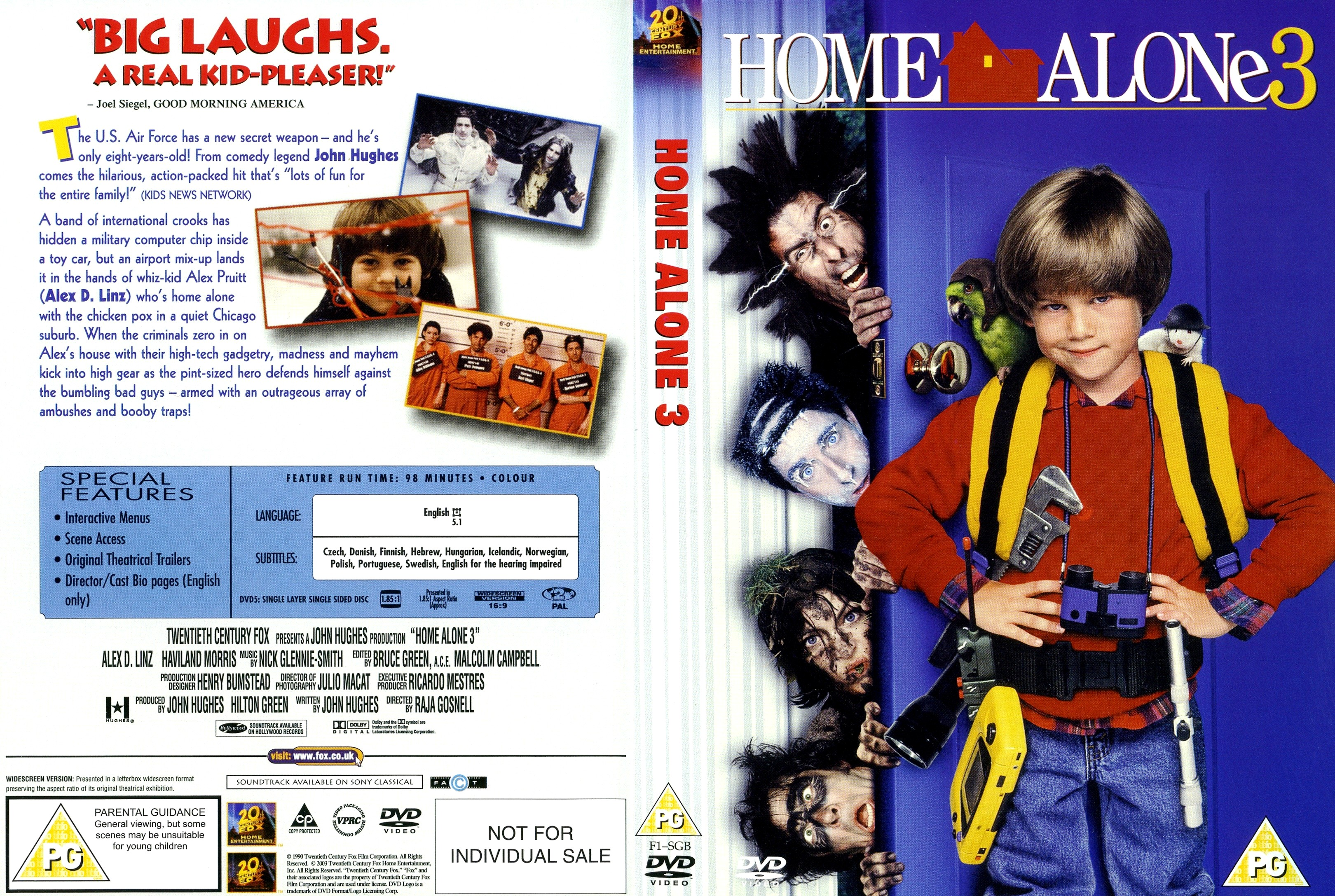 COVERSBOXSK Home Alone 3 high quality DVD Blueray