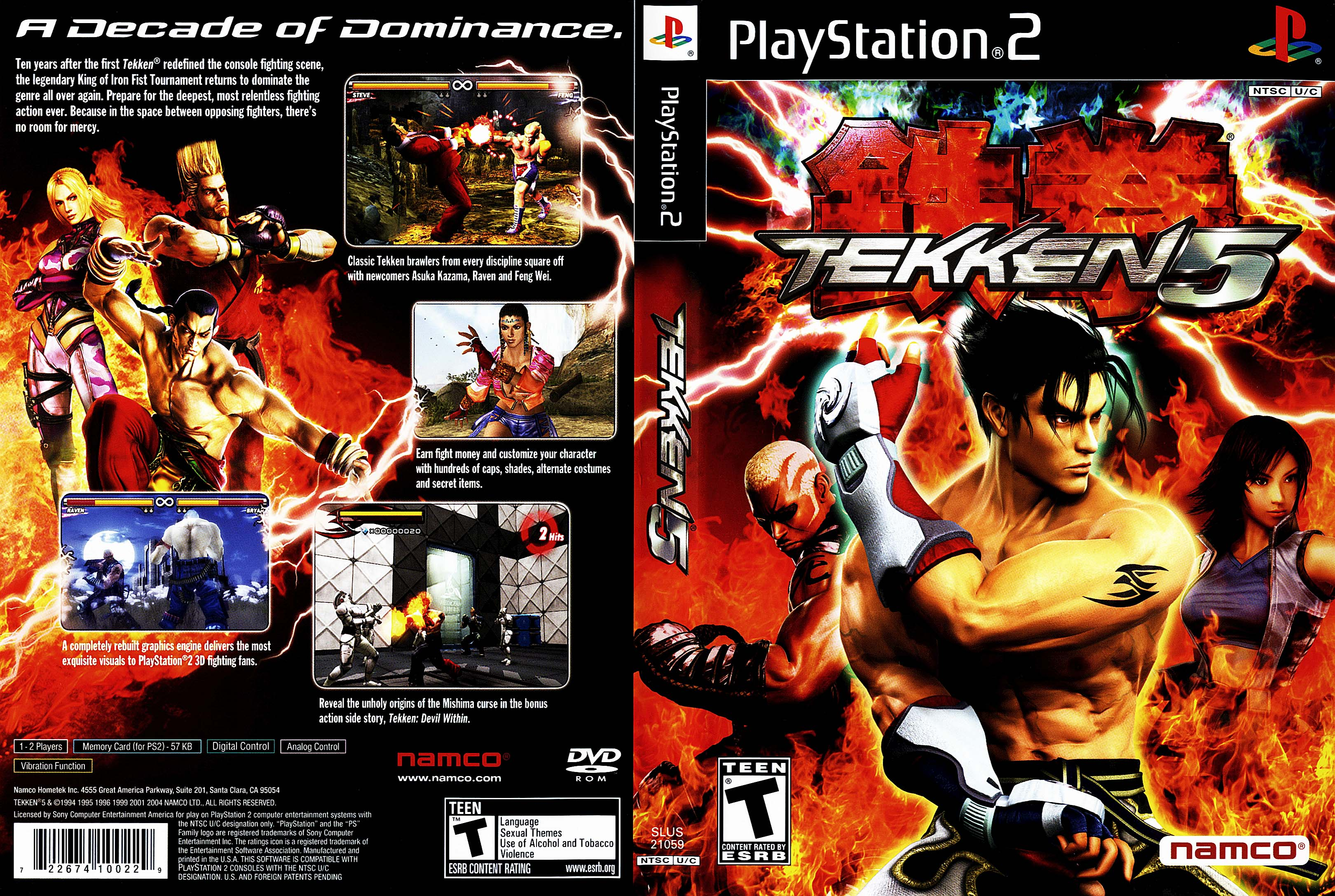 COVERS BOX SK ::: tekken 5 - high quality DVD / Blueray / Movie