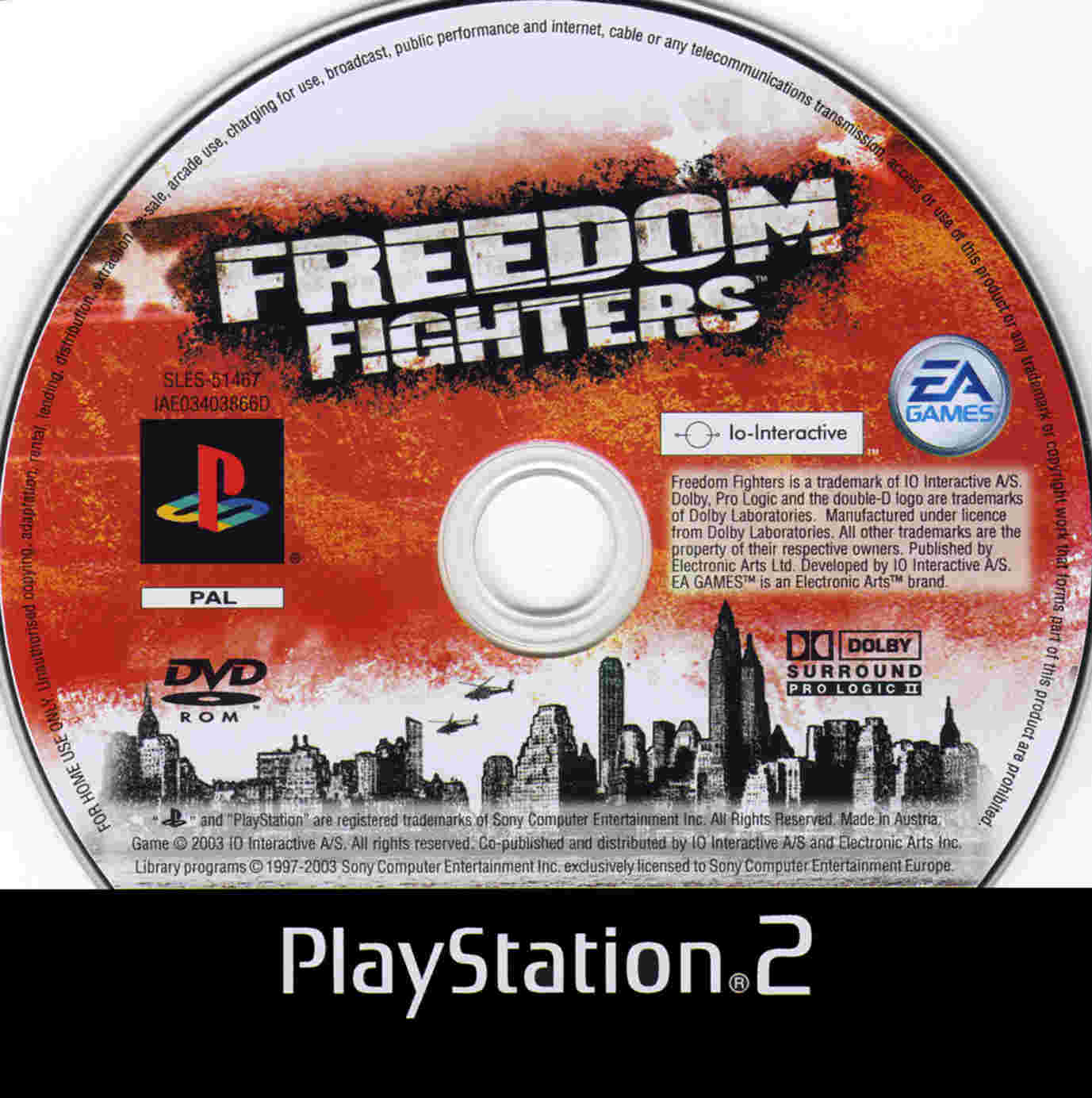COVERS BOX SK ::: freedom fighters (ps2) - high quality DVD
