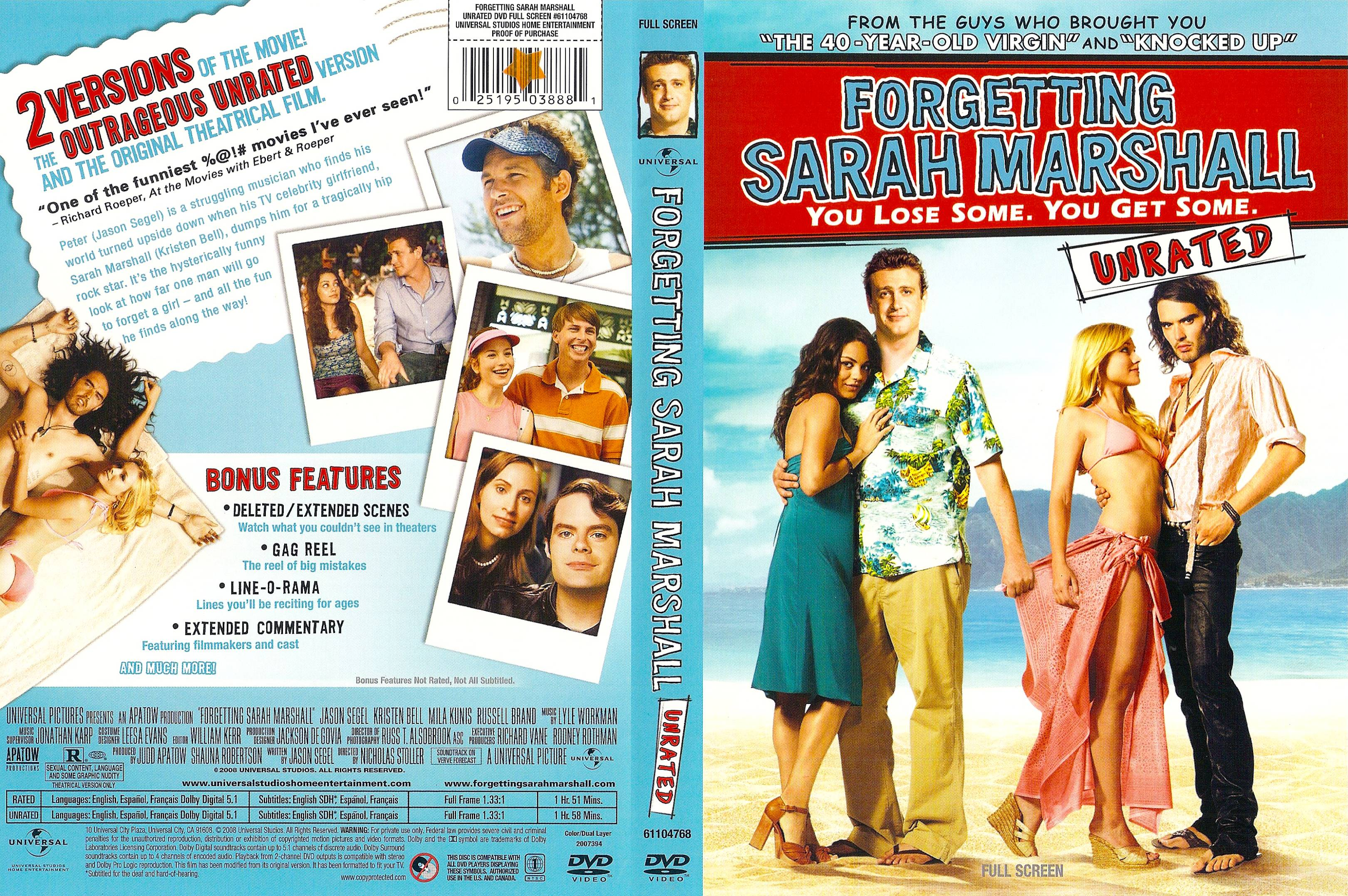 Covers Box Sk Forgetting Sarah Marshall 2008 Unrated High