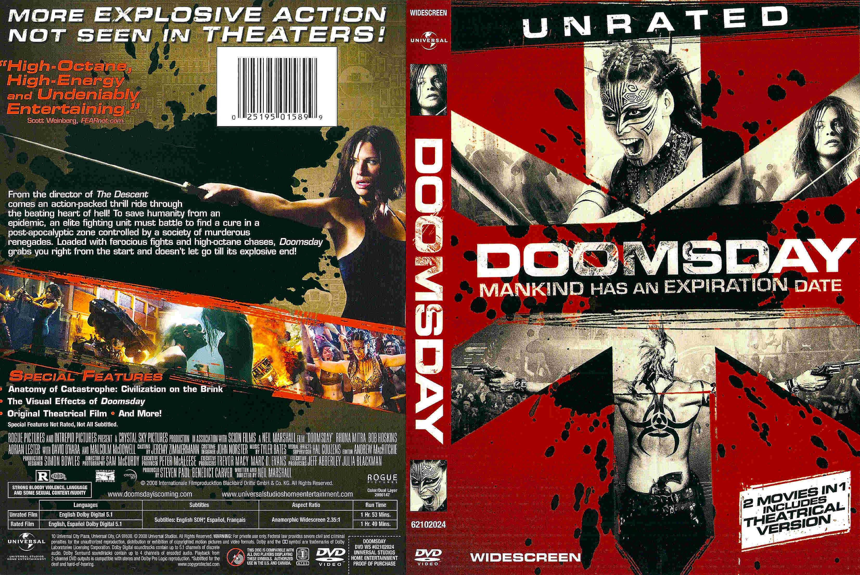 Covers Box Sk Doomsday 2008 High Quality Dvd Blueray Movie
