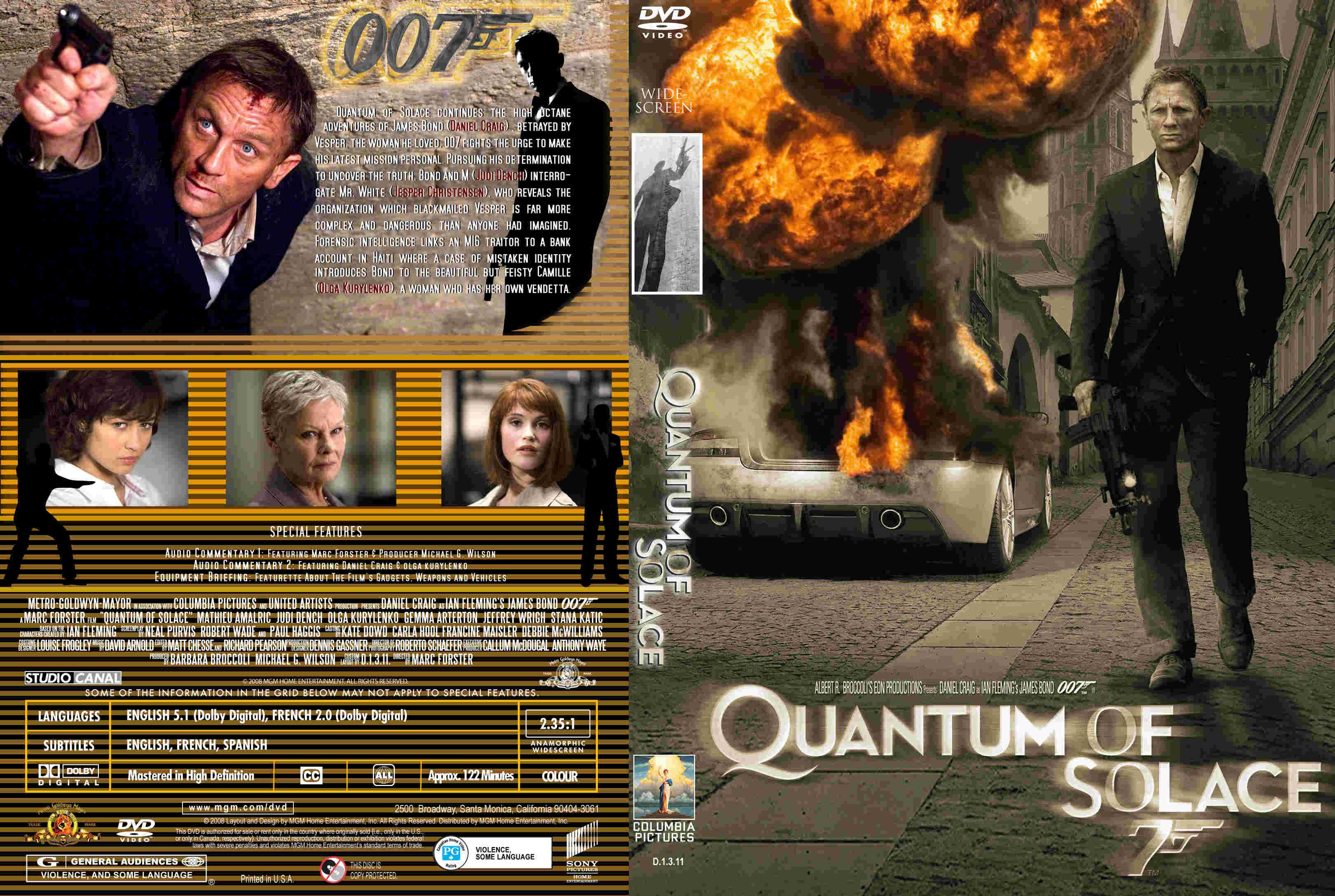 Quantum of solace dvd cover