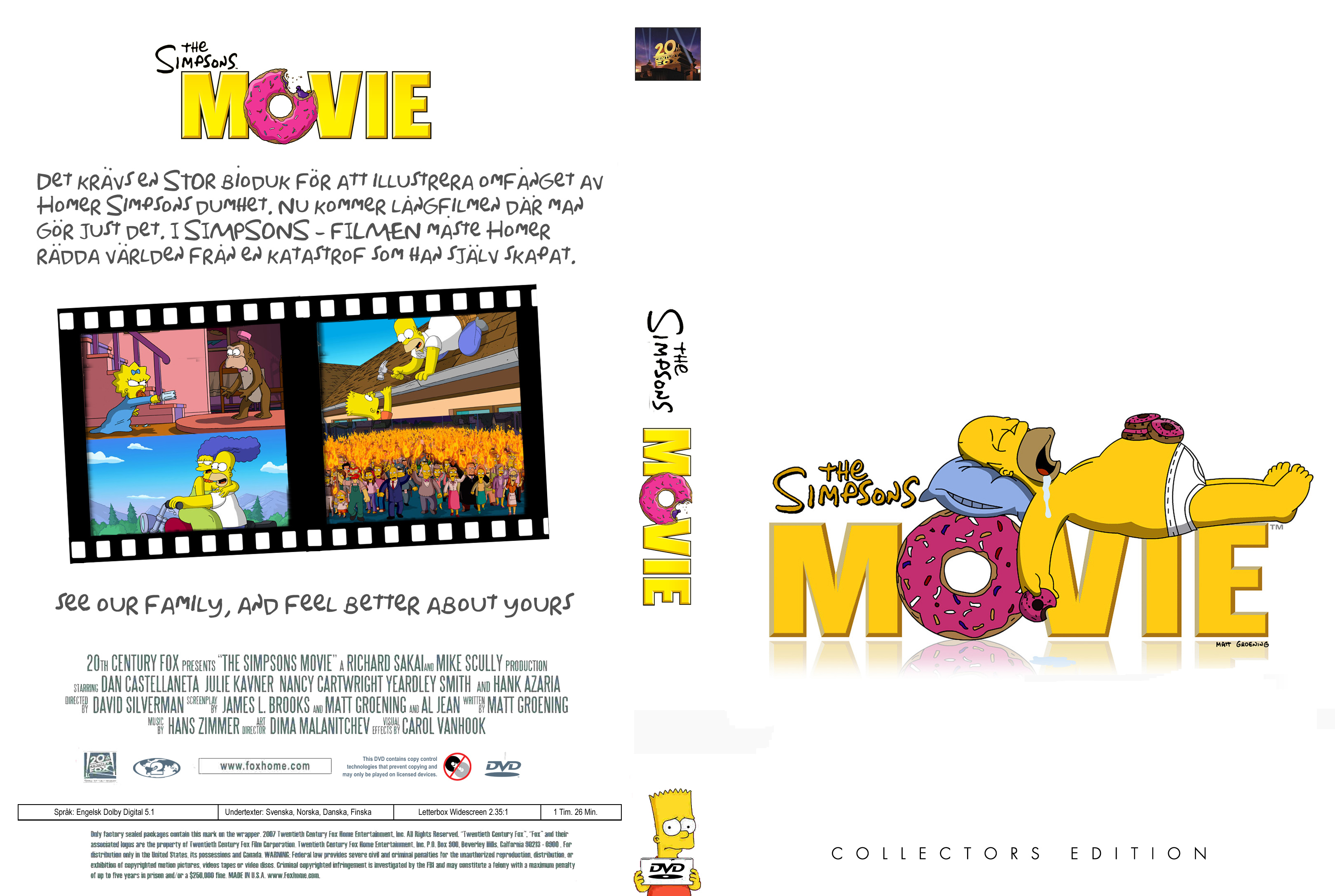 Covers Box Sk The Simpsons Movie High Quality Dvd Blueray Movie