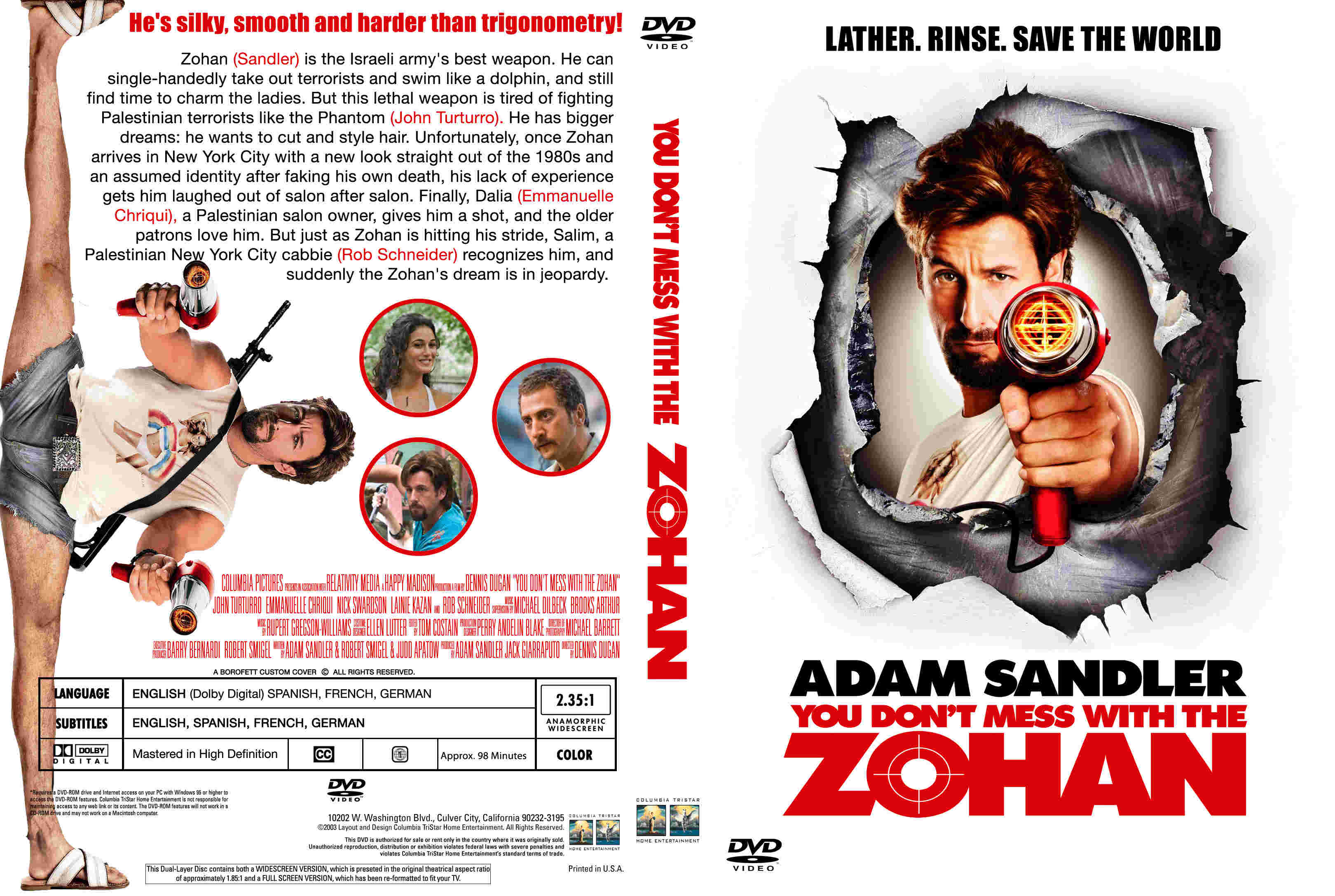 Covers Box Sk You Don T Mess With Zohan High Quality Dvd Blueray Movie