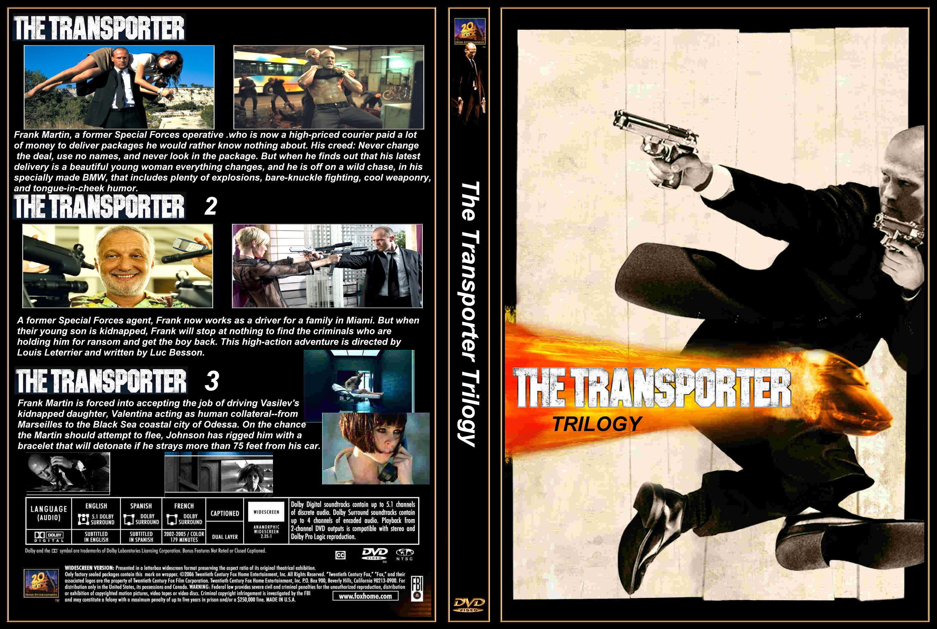 Transporter 2 (2005) - R3 Custom DVD Cover |Transporter 2 Dvd Cover