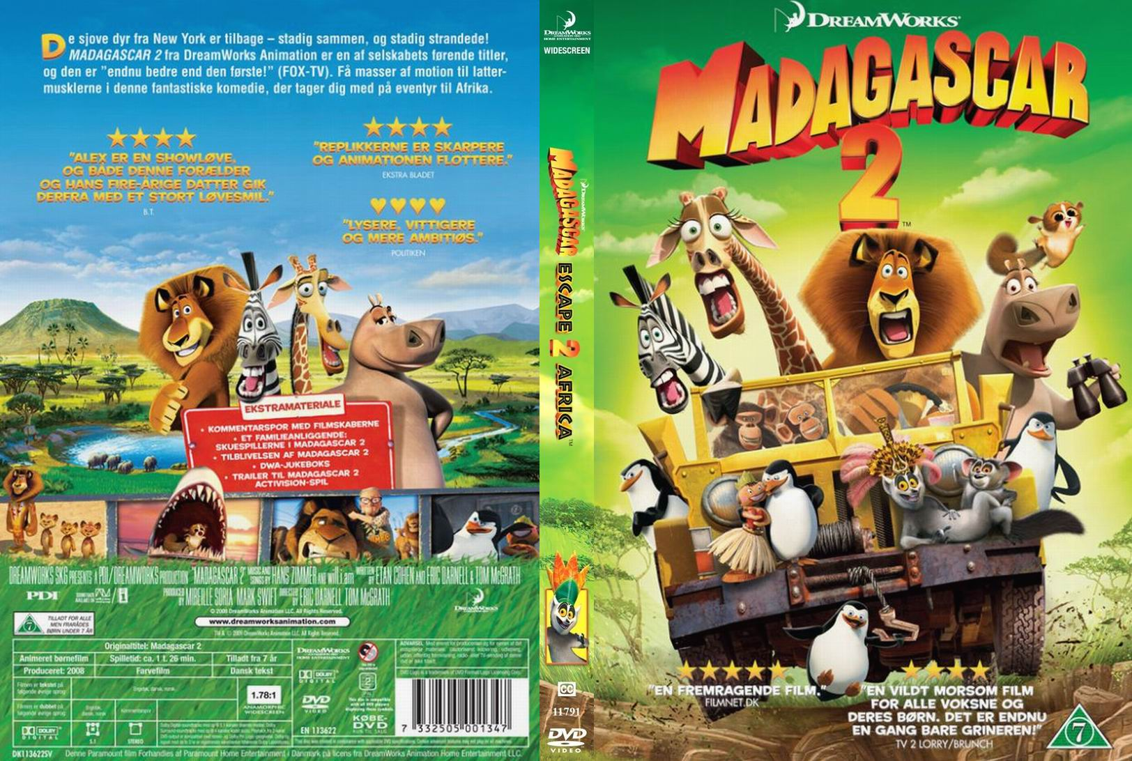 Covers Box Sk Madagascar Escape 2 Africa High Quality Dvd Blueray Movie