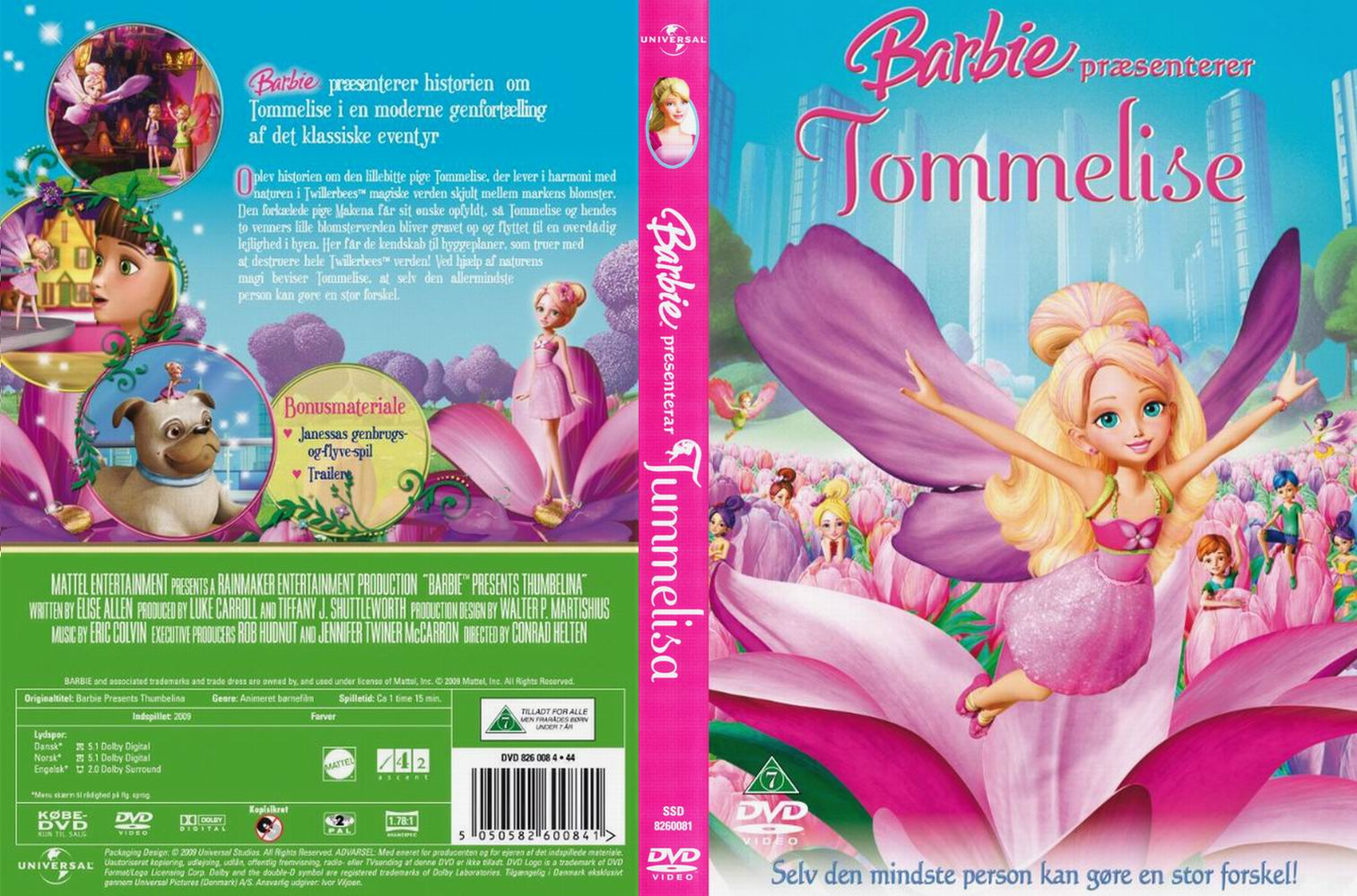 Sk barbie presents thumbelina high quality dvd blueray movie